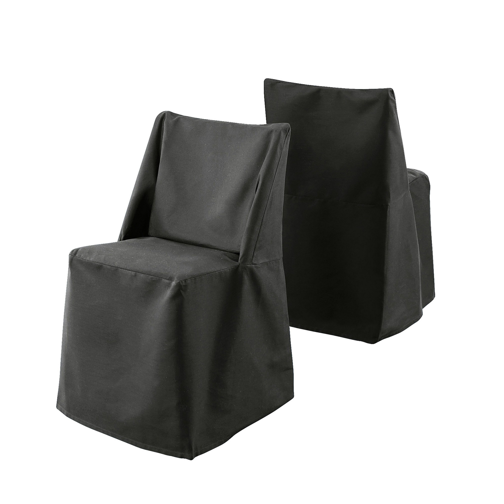 Cotton Duck Folding Chair Cover, BLACK