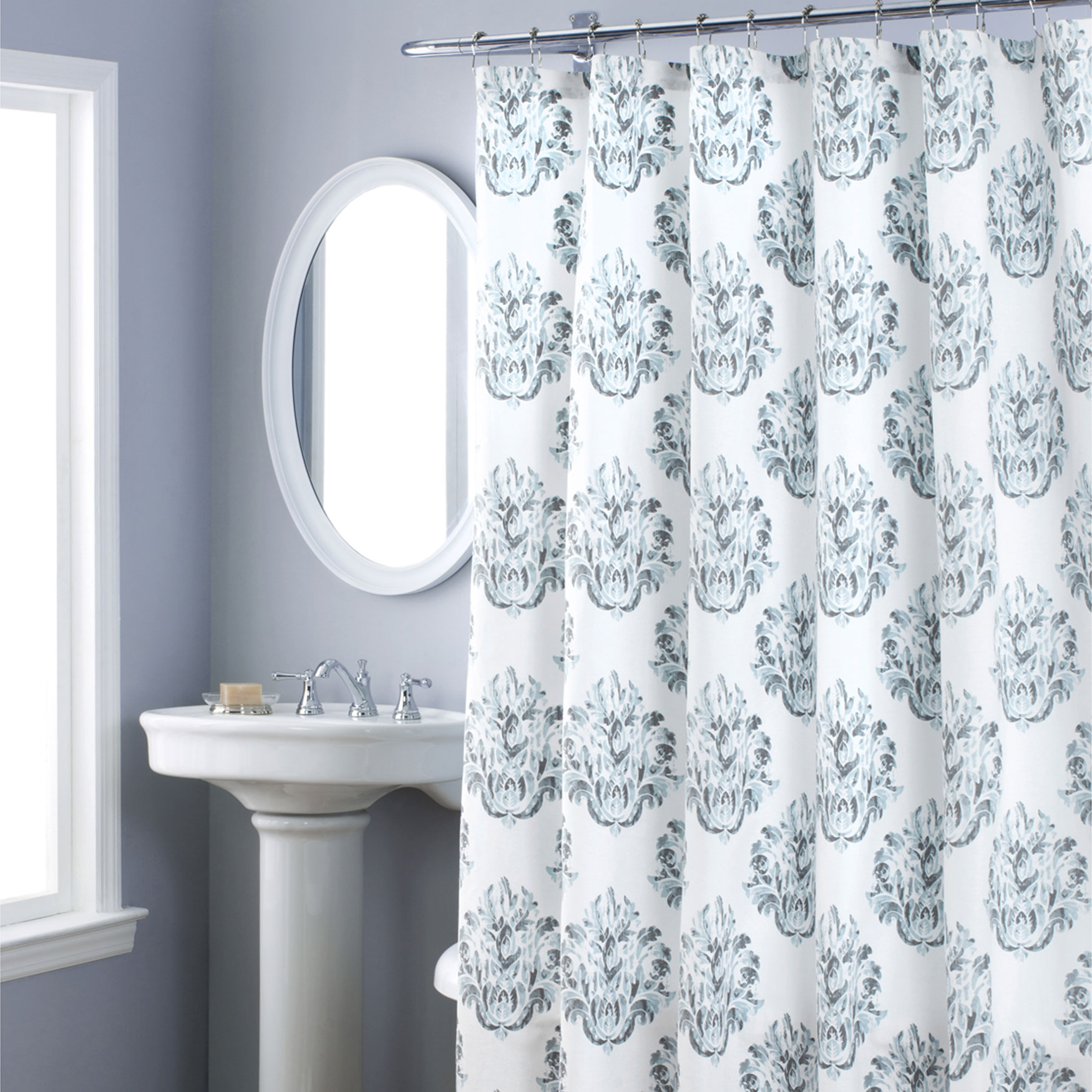 Nicole Miller Tabitha Shower Curtain, BLUE