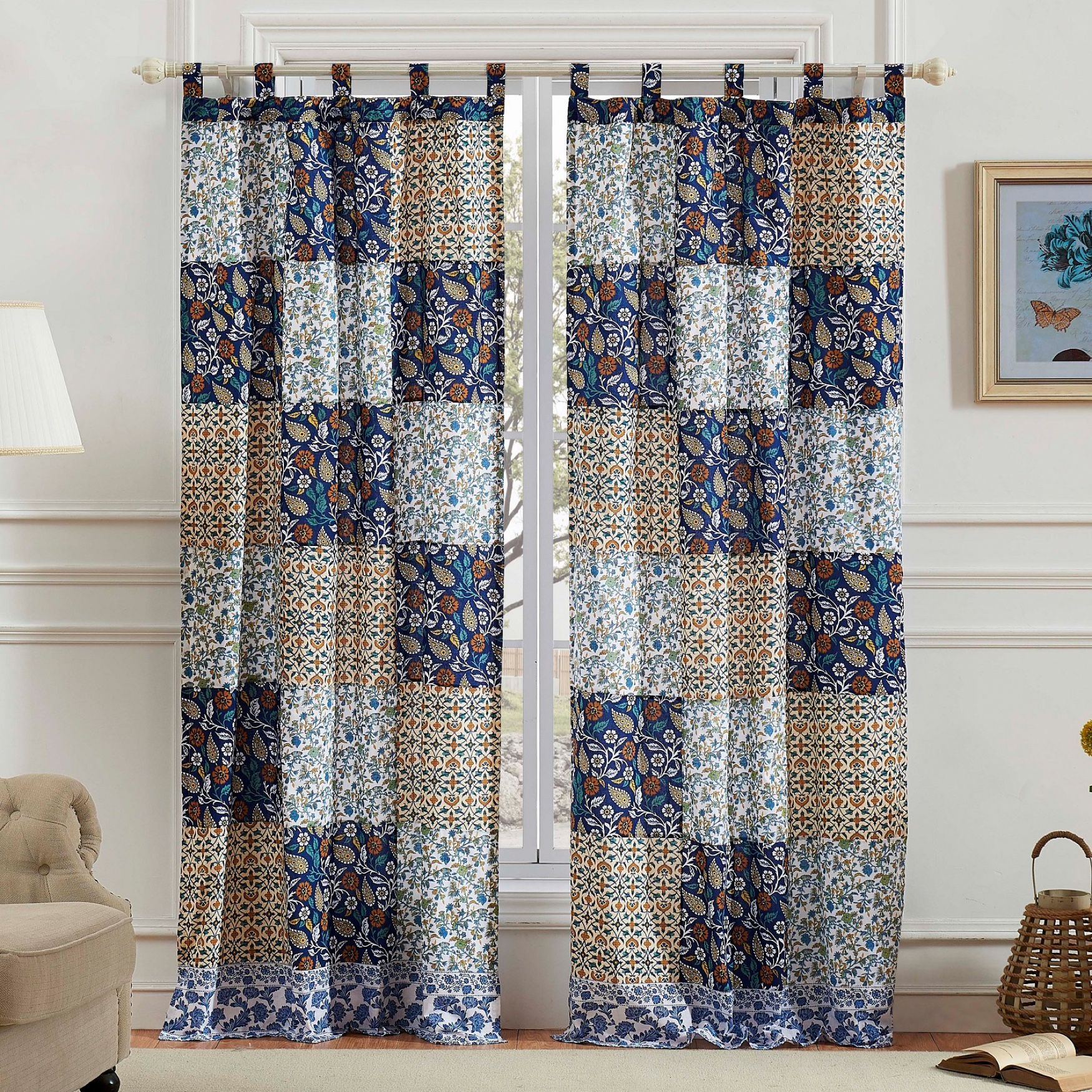 Pandora Curtain Panel Pair by Greenland Home Fashions, MULTI