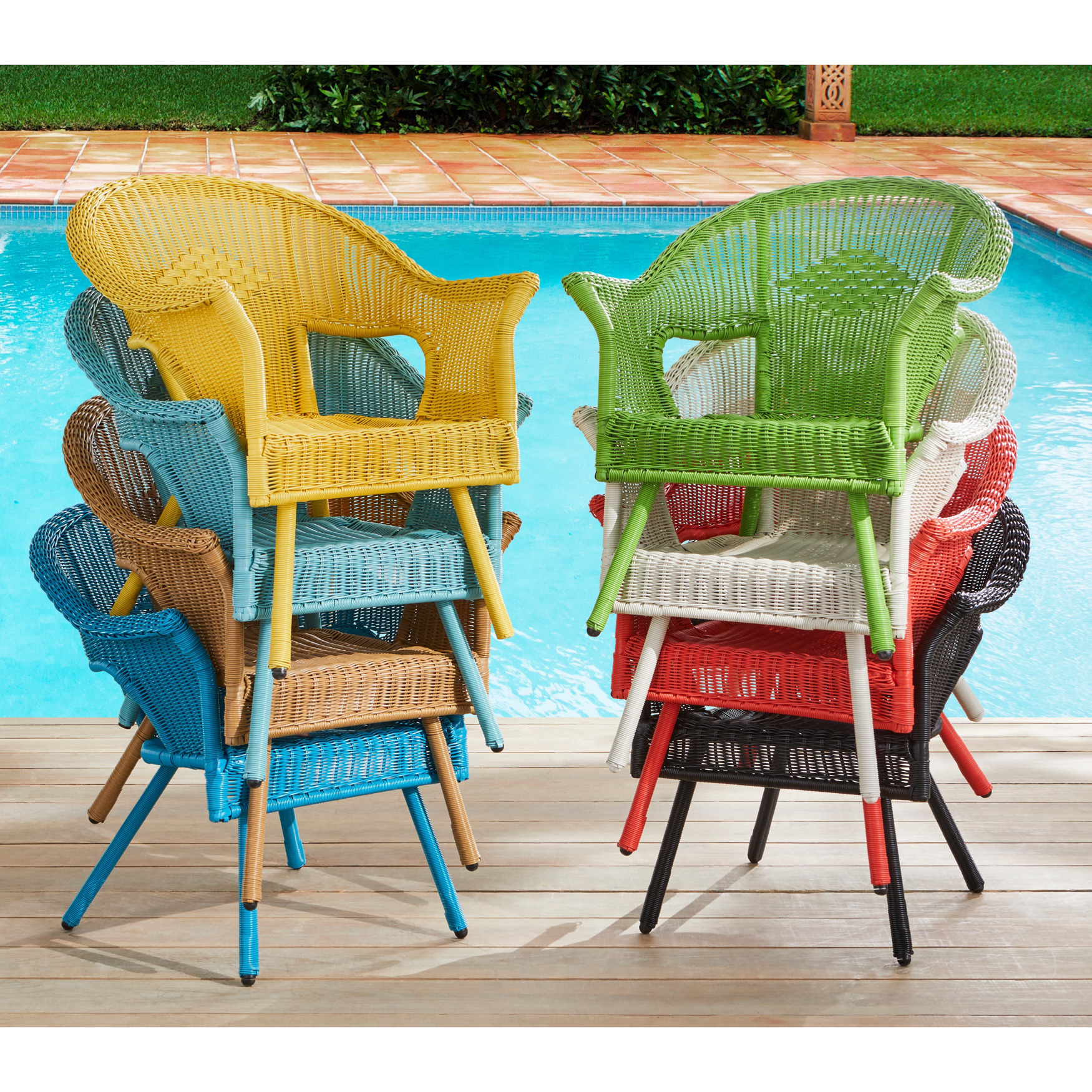 Roma All Weather Wicker Stacking Chair