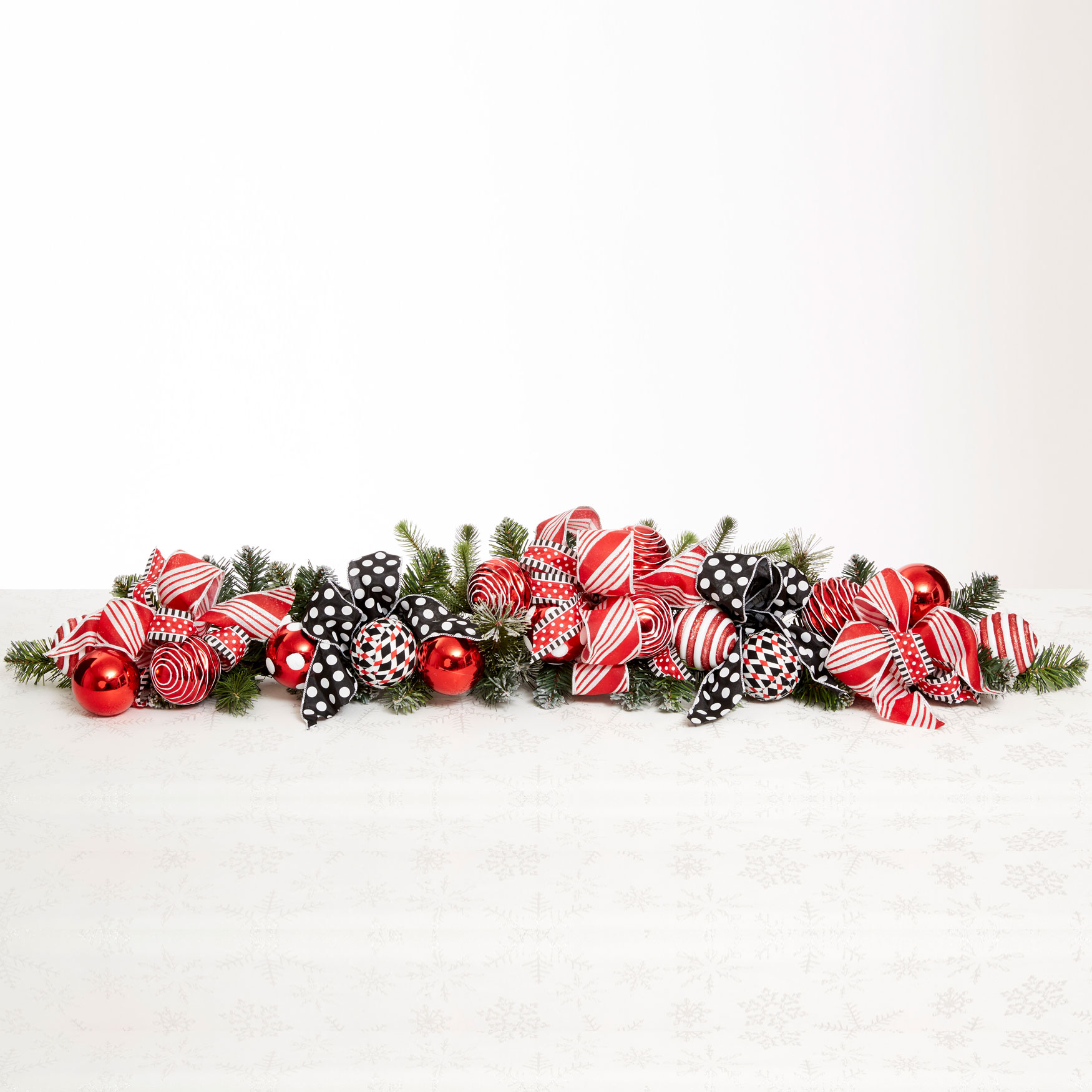 "Ribbon Candy 49"" Mantel Swag, MULTI"