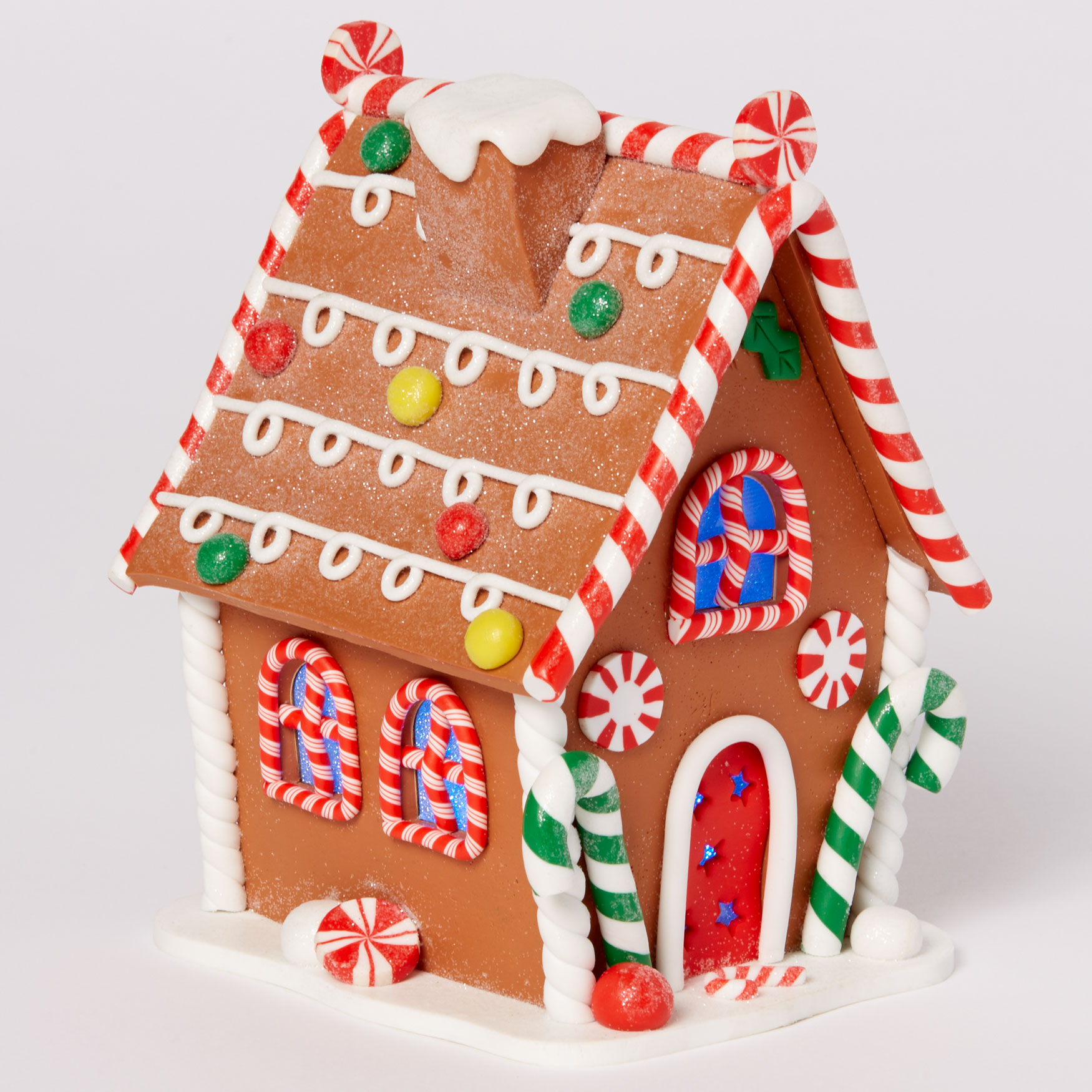 Pre-Lit Gingerbread House, MULTI
