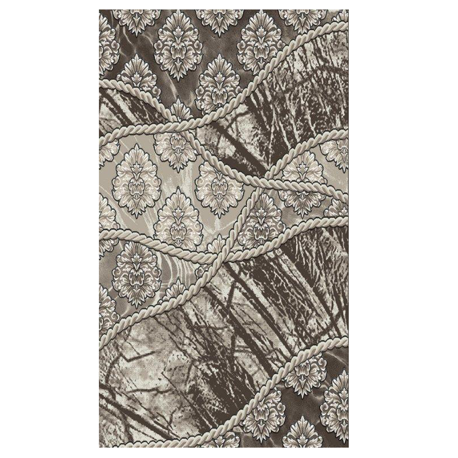Jewel Brown 2' x 3' Area Rug, BROWN