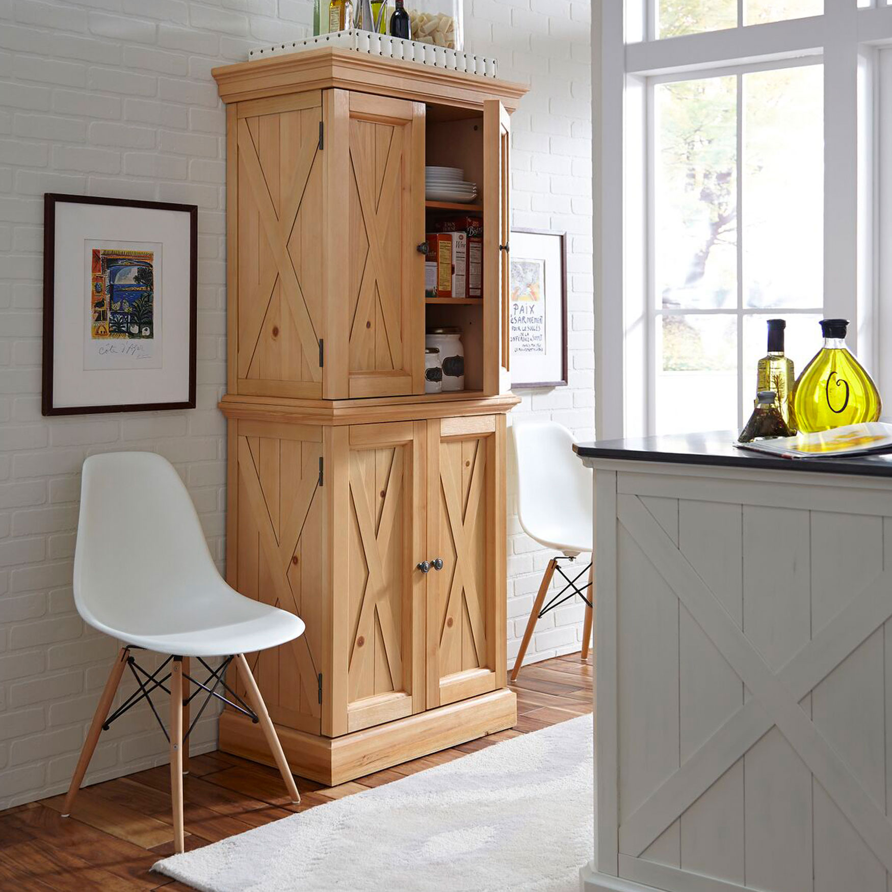Country Lodge Kitchen Pantry, PINE