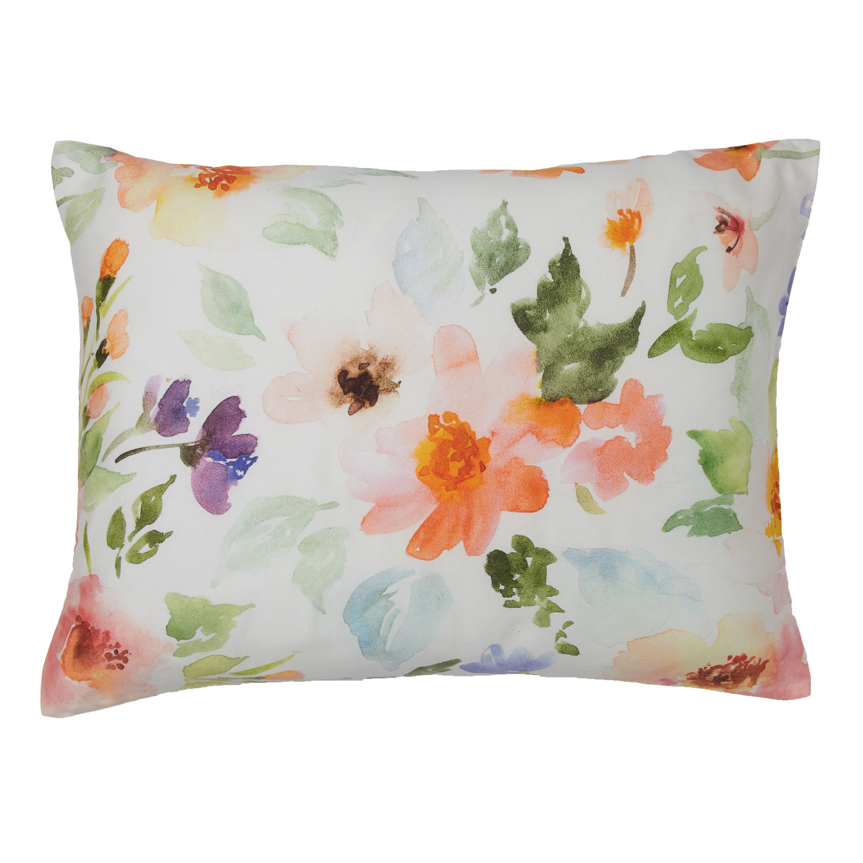Lily Watercolor Floral Sham,