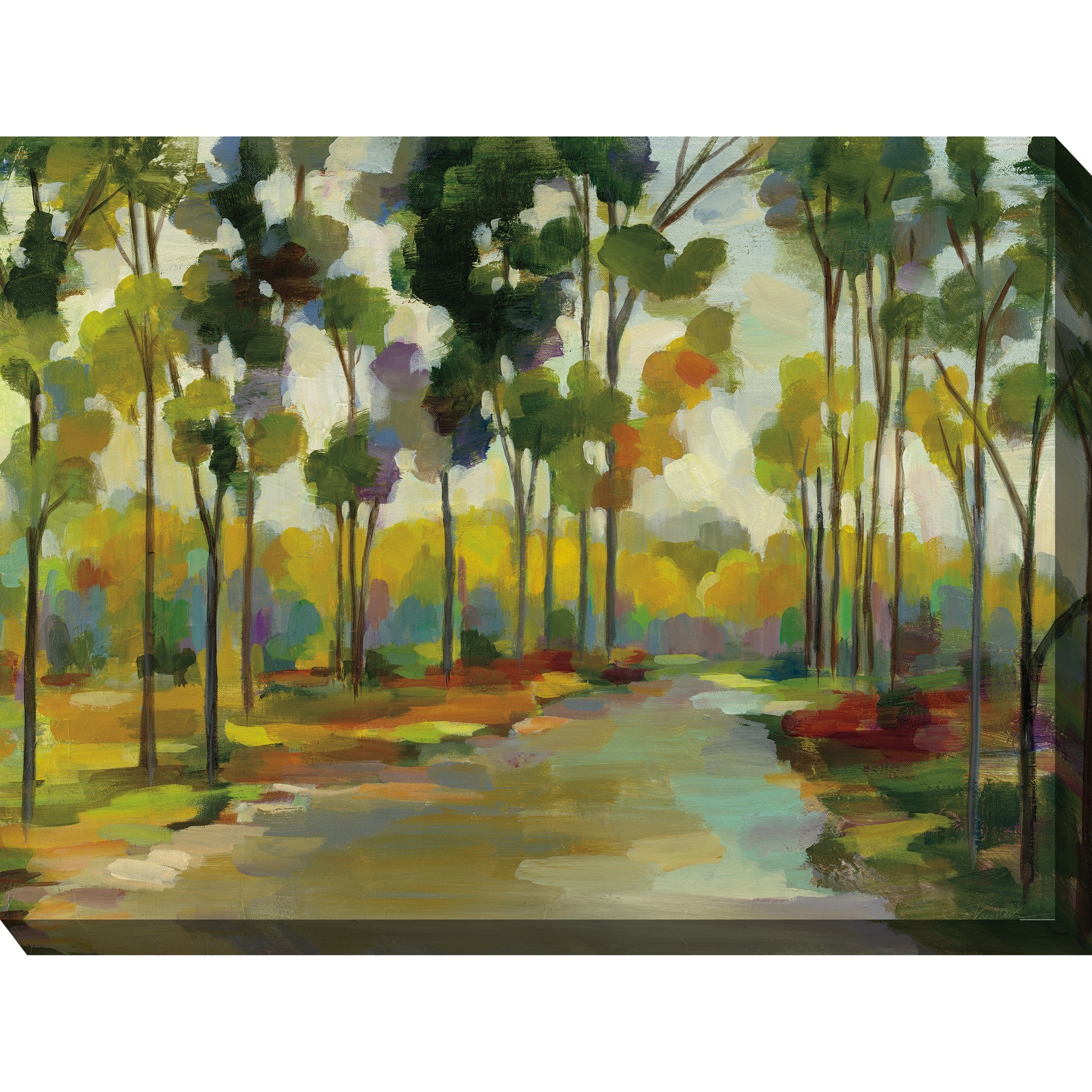 Distant Forest Outdoor Wall Art, MULTI