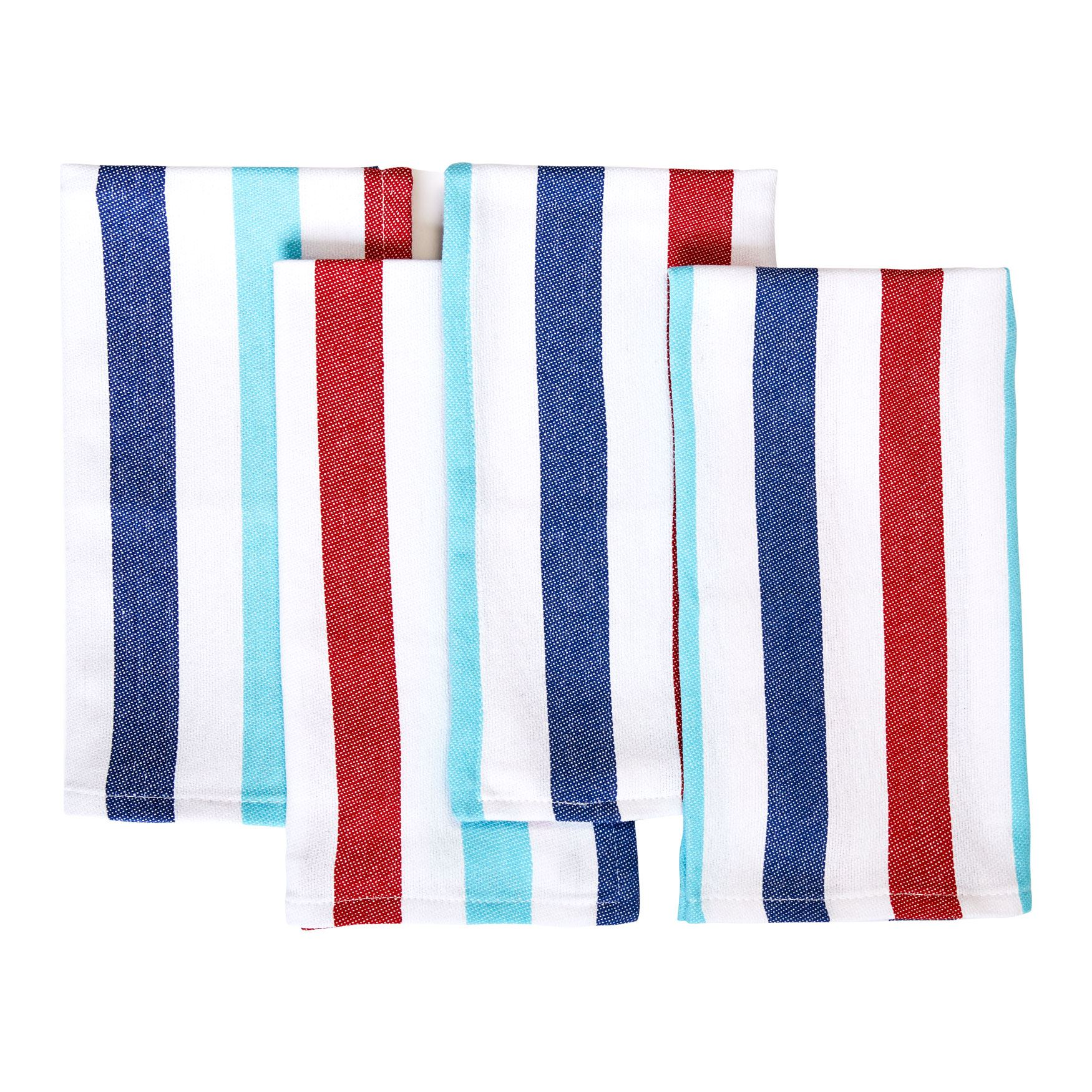 Maritime Table Napkins, Set of 4, AWNING STRIPE MULTI