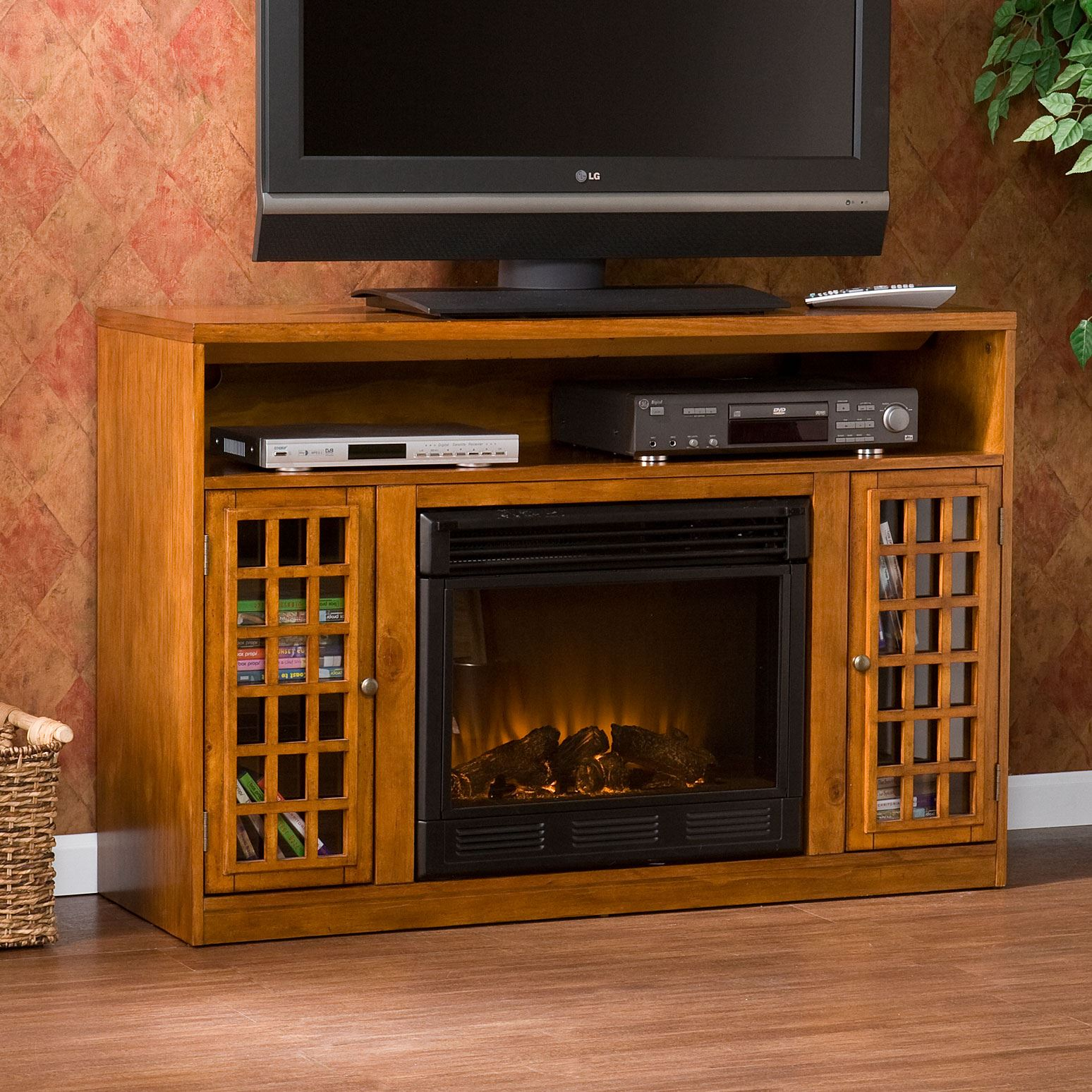 Narita Media  Console with Electric Fireplace,