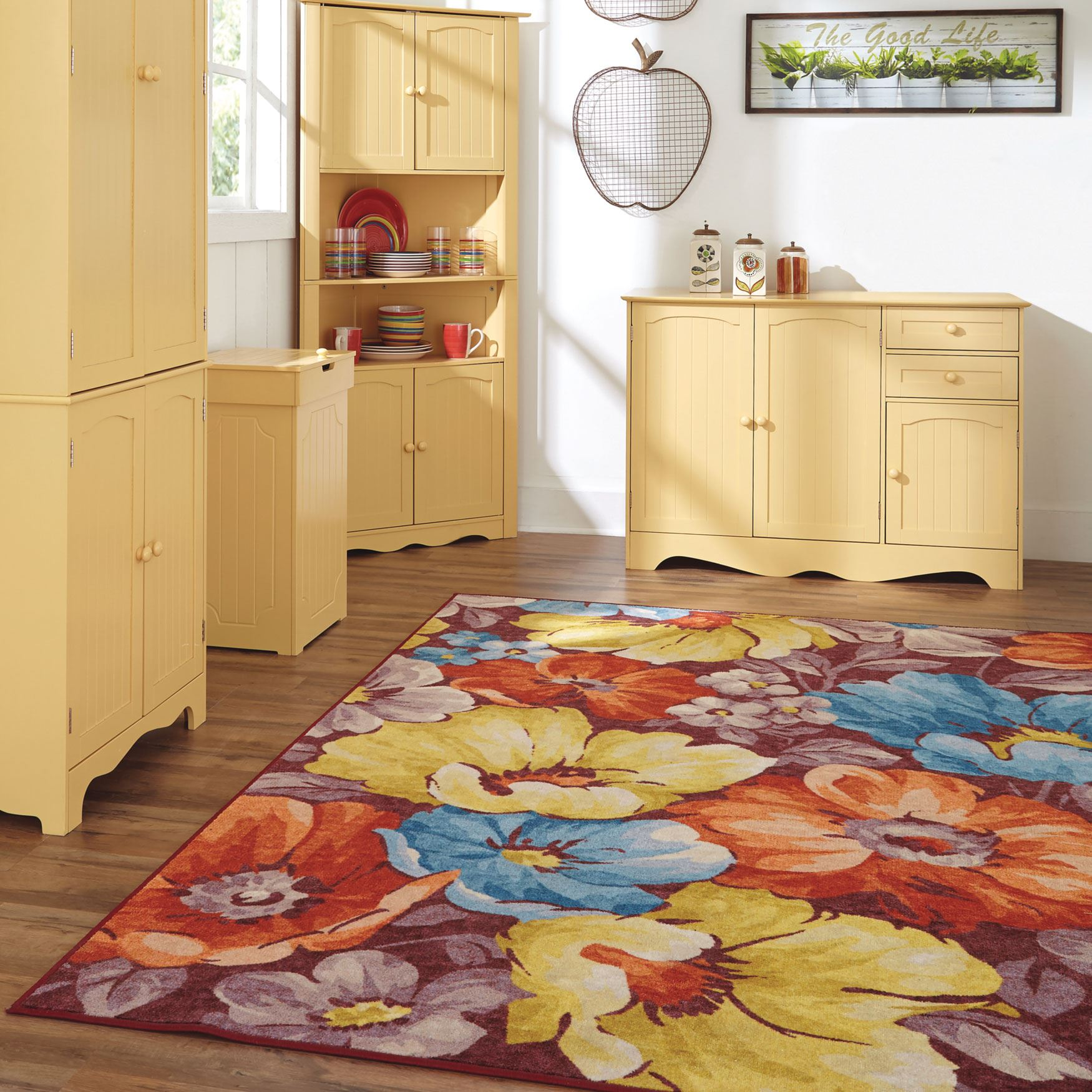 Large Fiore Floral Rug ,