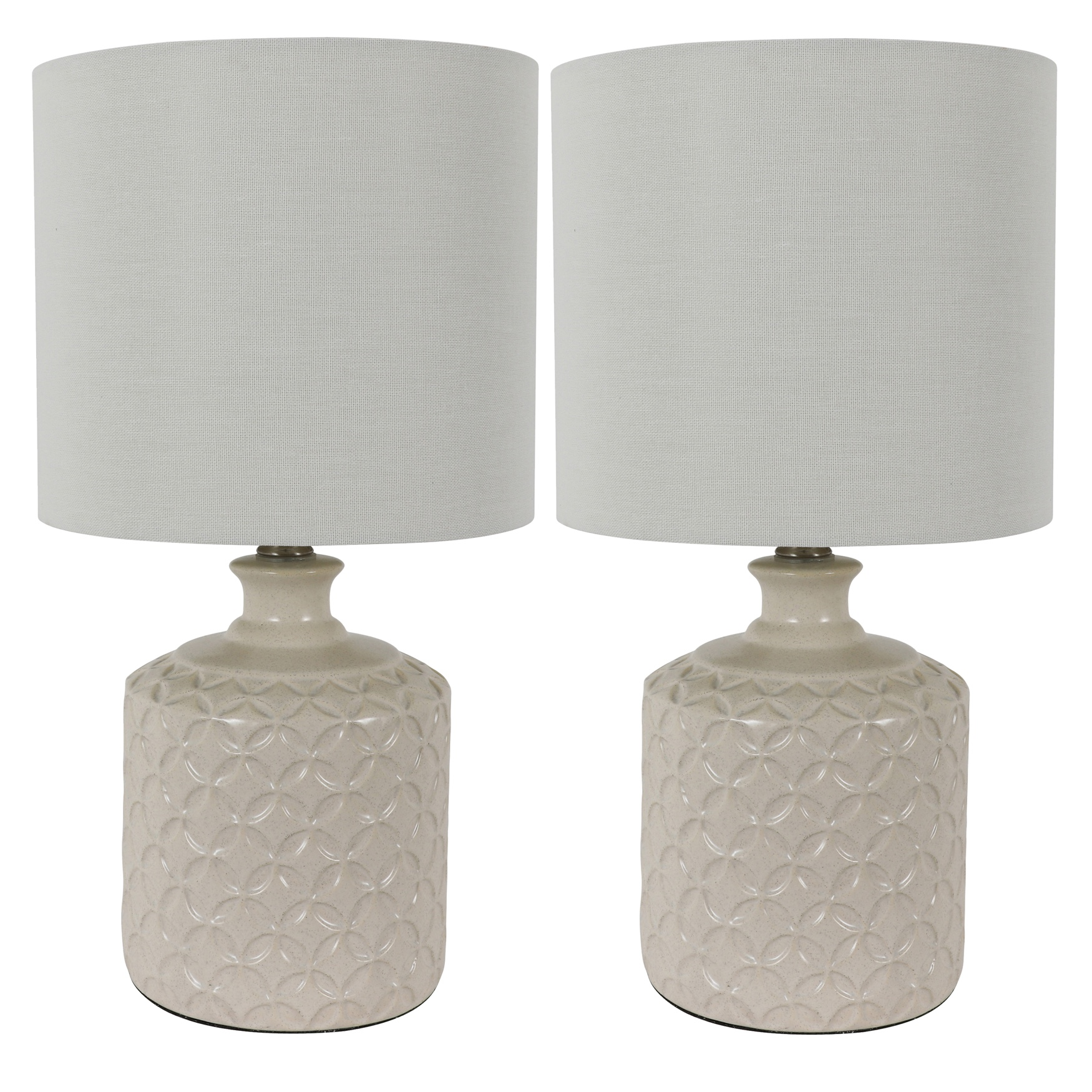 Ivory Ceramic 2-Pack LED Table Lamps, IVORY