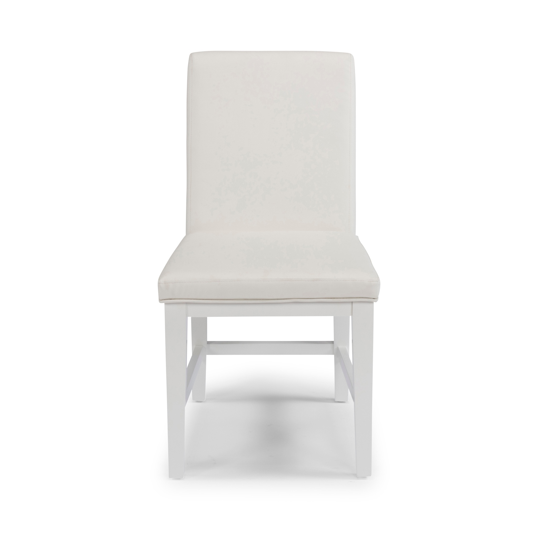 Linear Pair of Dining Chairs by Home Styles, WHITE