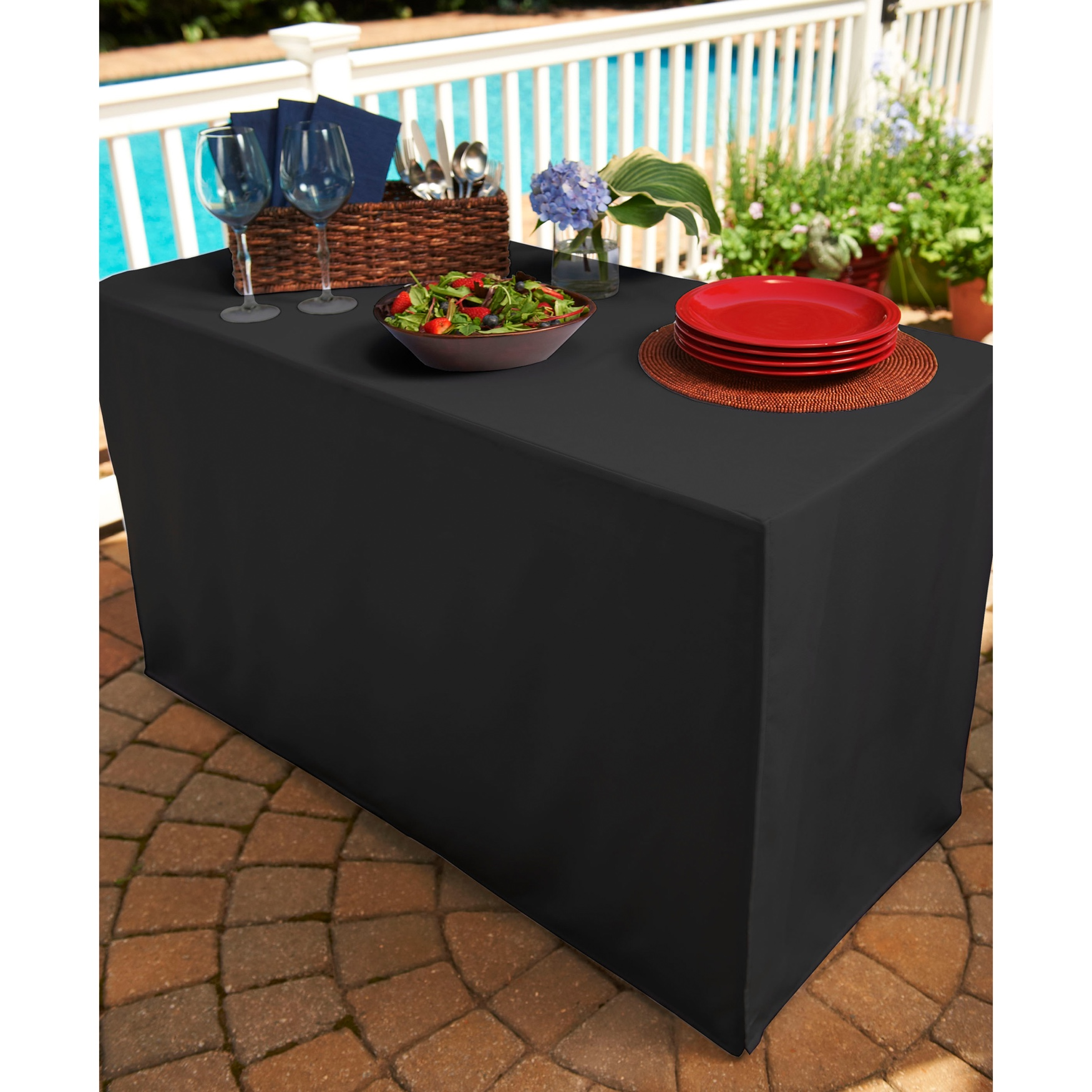 Fresh Ideas Table Cover For Folding Table Brylane Home