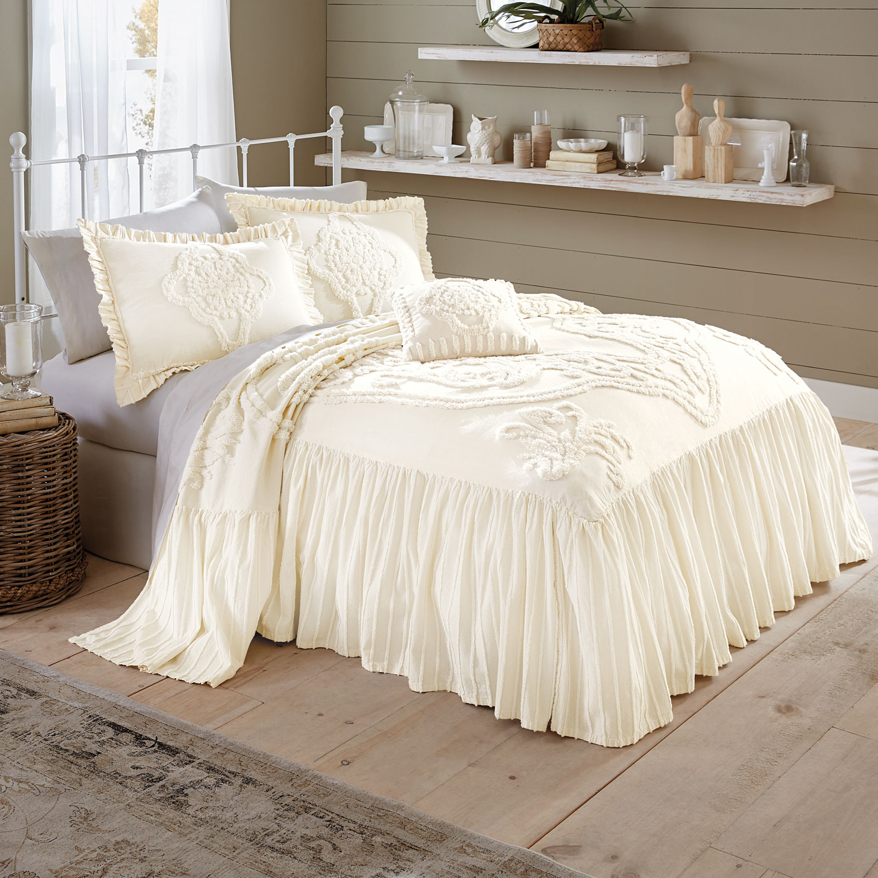 Madison Flounce Chenille Bedspread Collection,