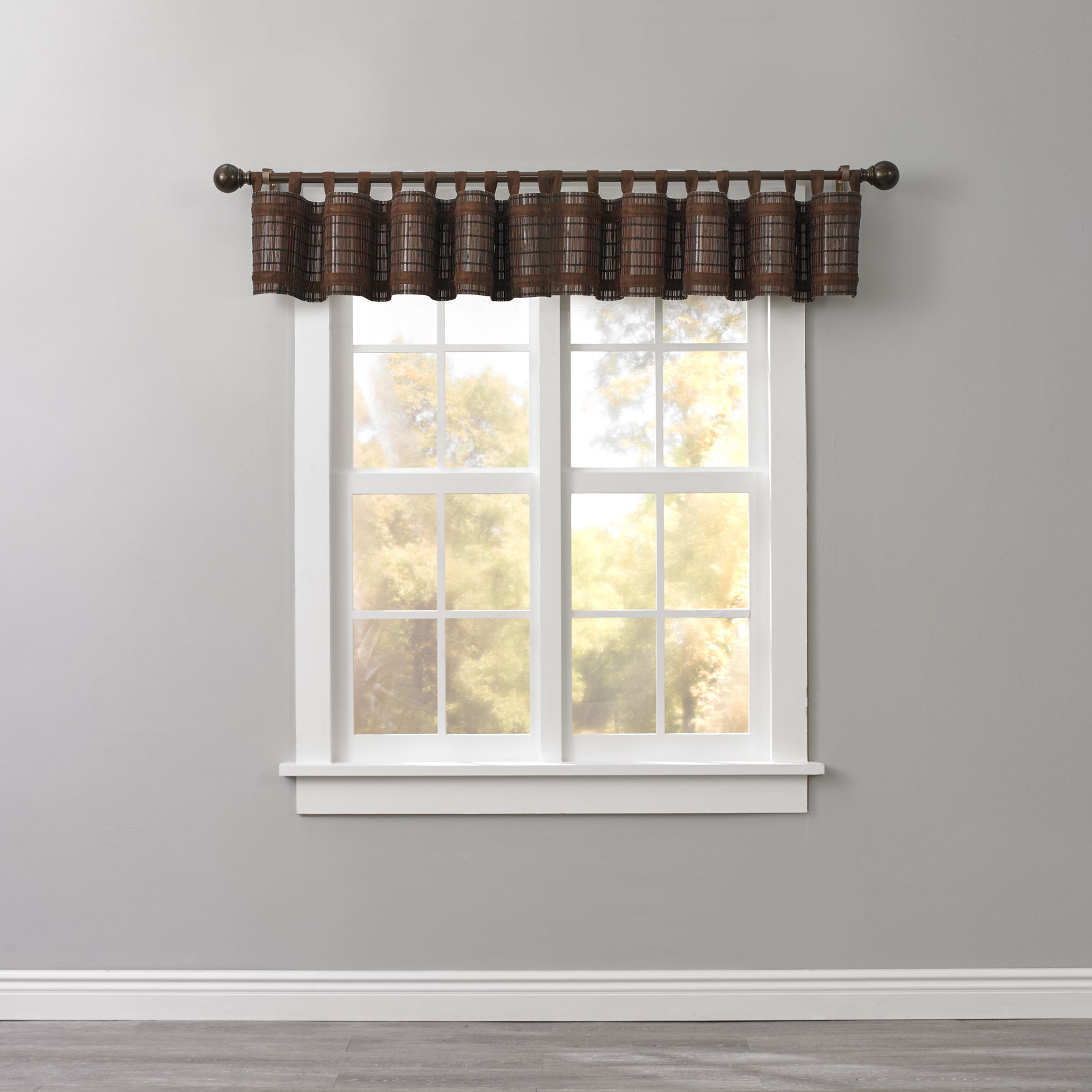 Bamboo Tab Top Valance Kitchen Curtains Brylane Home