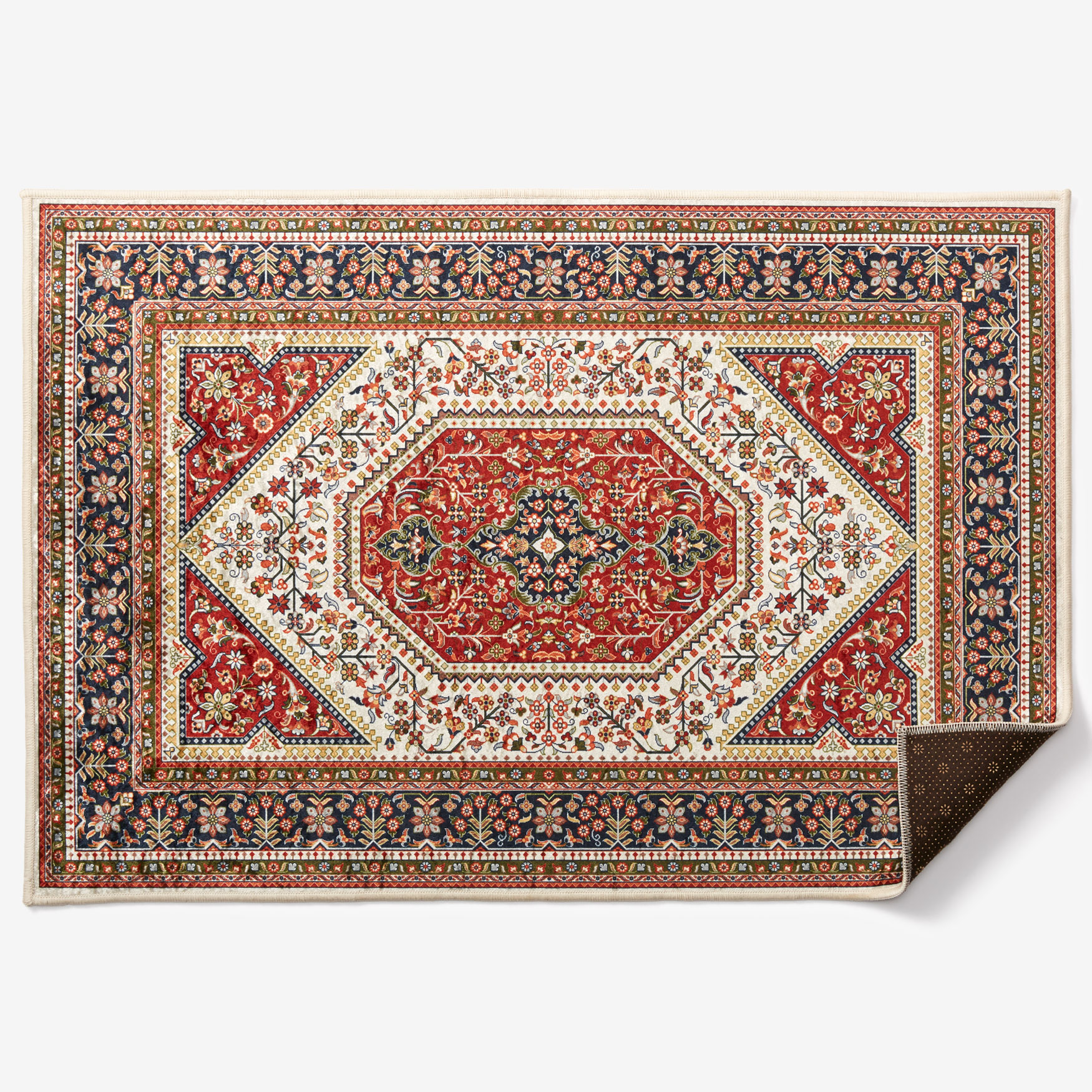 "Emerald 2'2"" x 3'2"" Rug, RED"