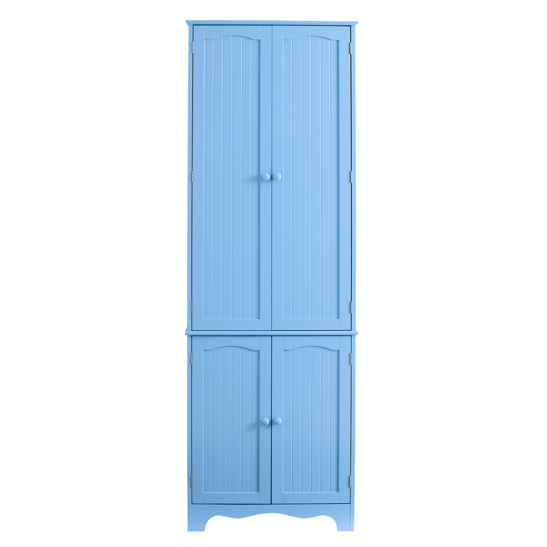 Cottage Kitchen Tall Pantry Cabinet, LIGHT BLUE