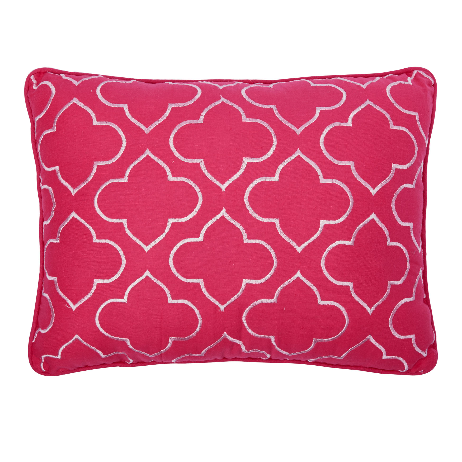 BrylaneHome® Studio Chloe Floral Breakfast Pillow, PINK WHITE
