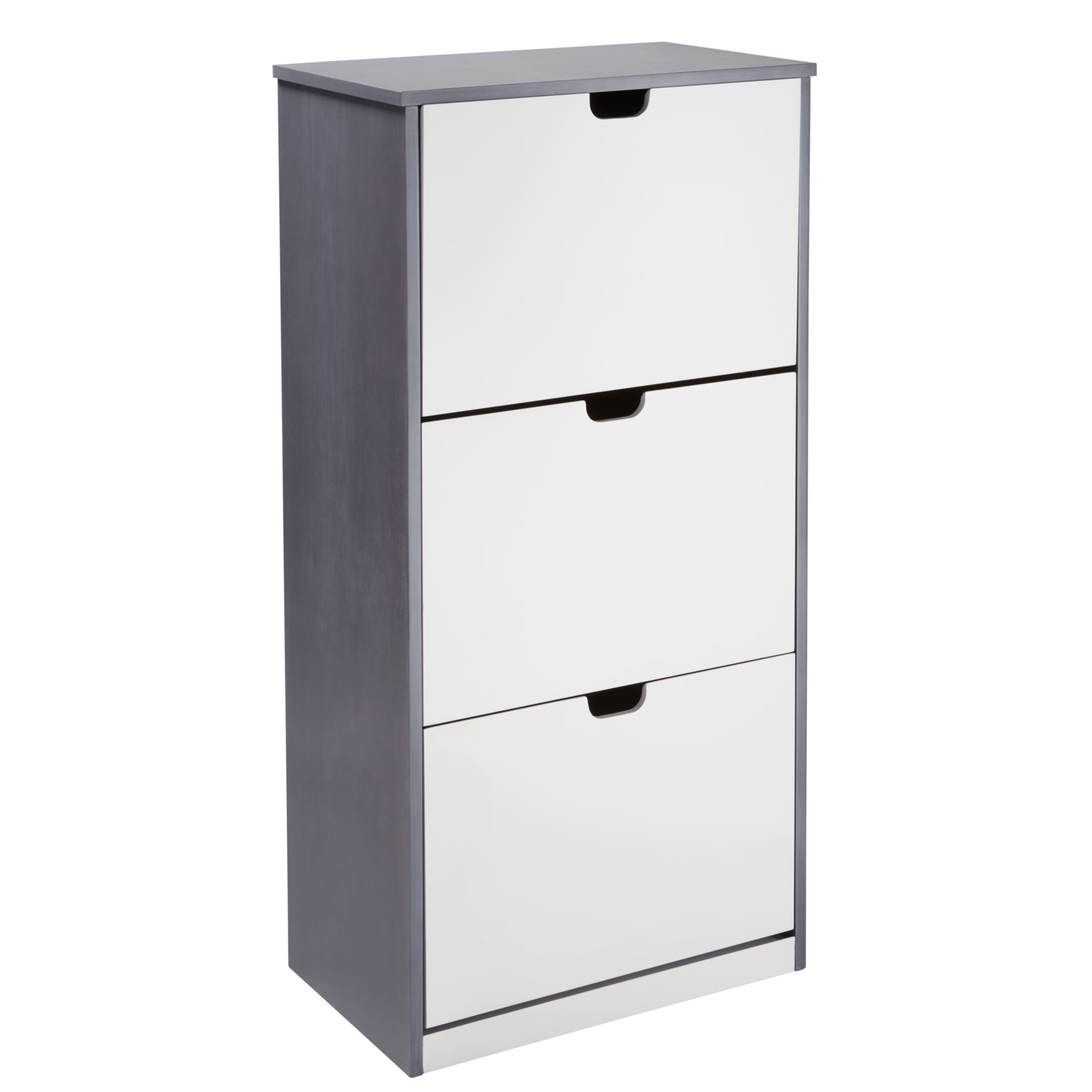 Niko Shoe Cabinet, GRAY WHITE