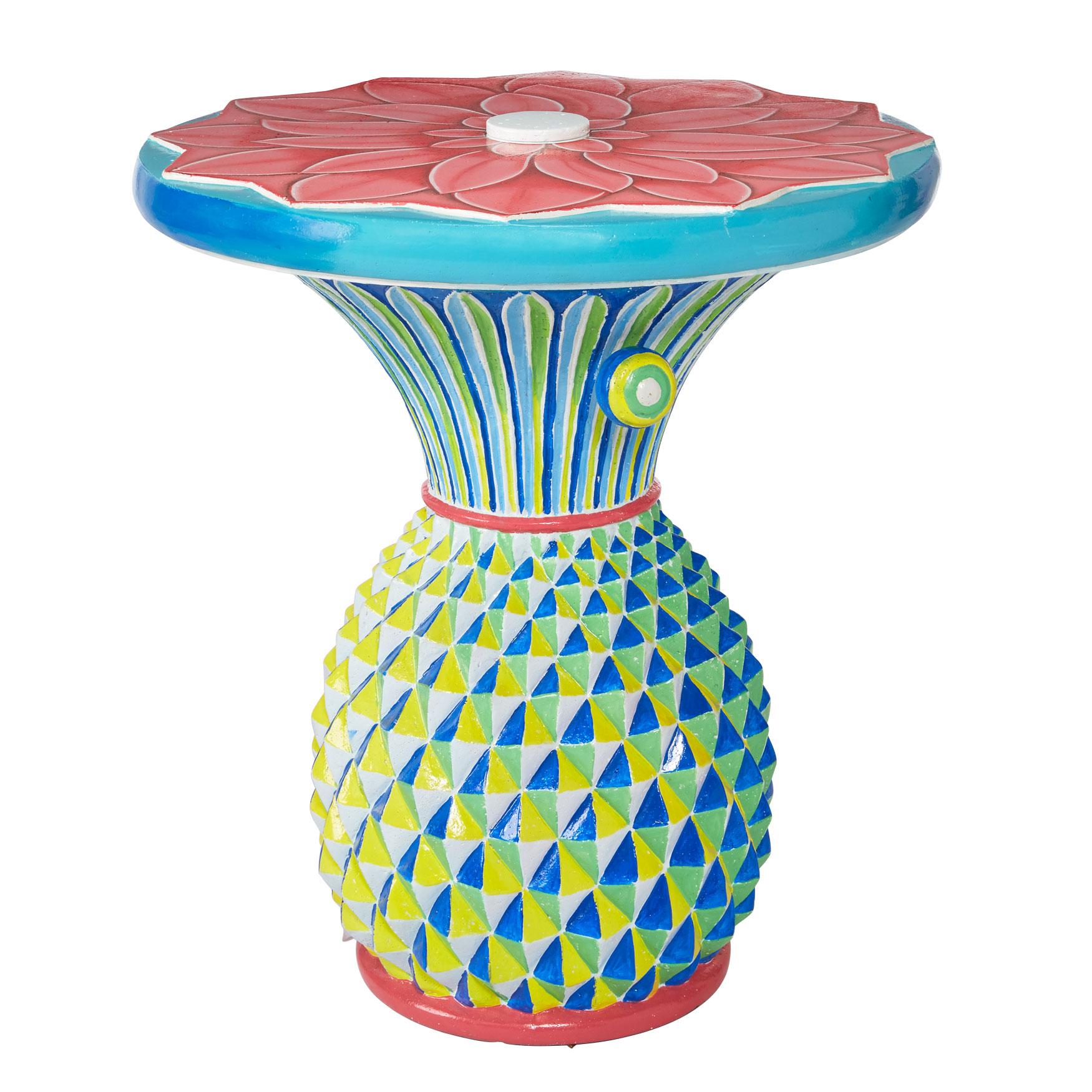 Pineapple Umbrella Table Plus Size Outdoor Brylane Home