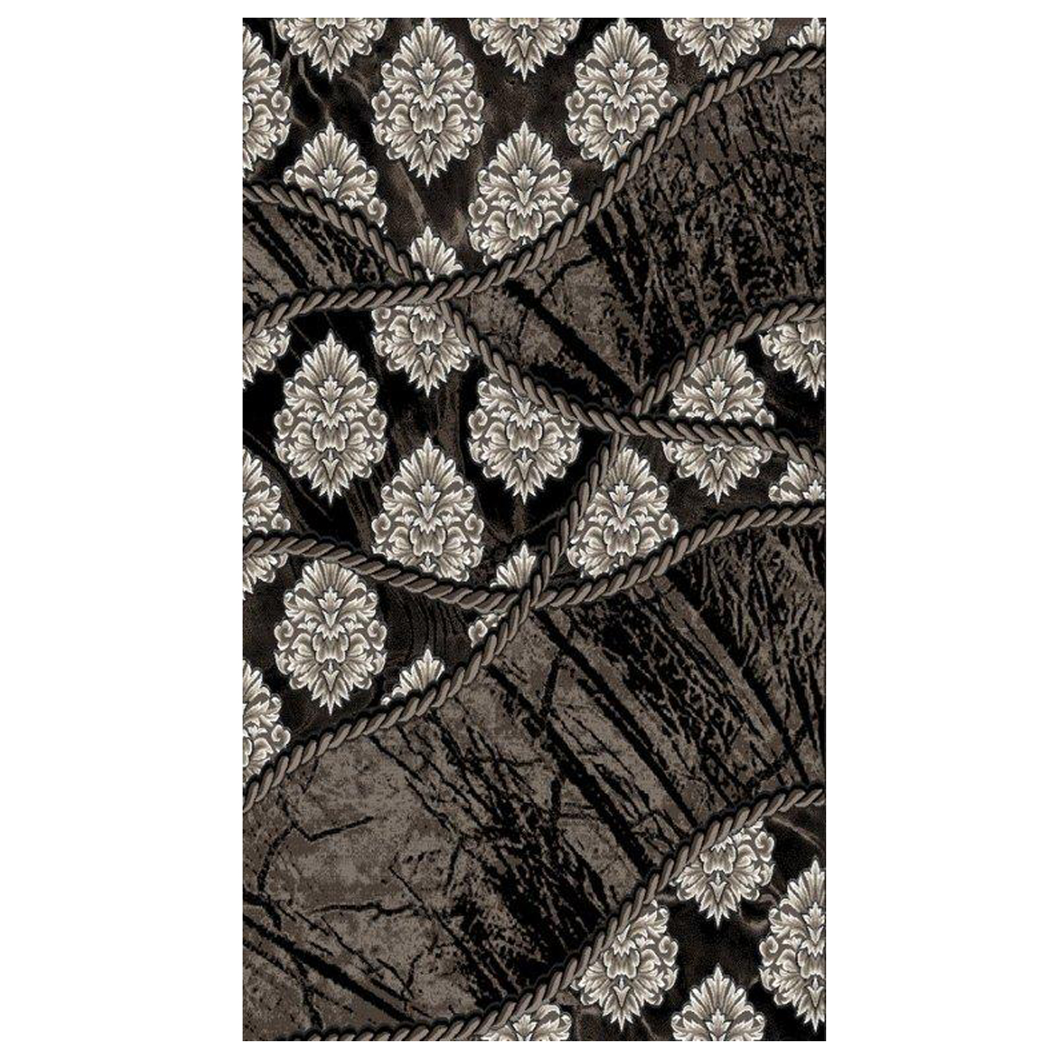 Jewel 8' x 10' Area Rug, BROWN BLACK
