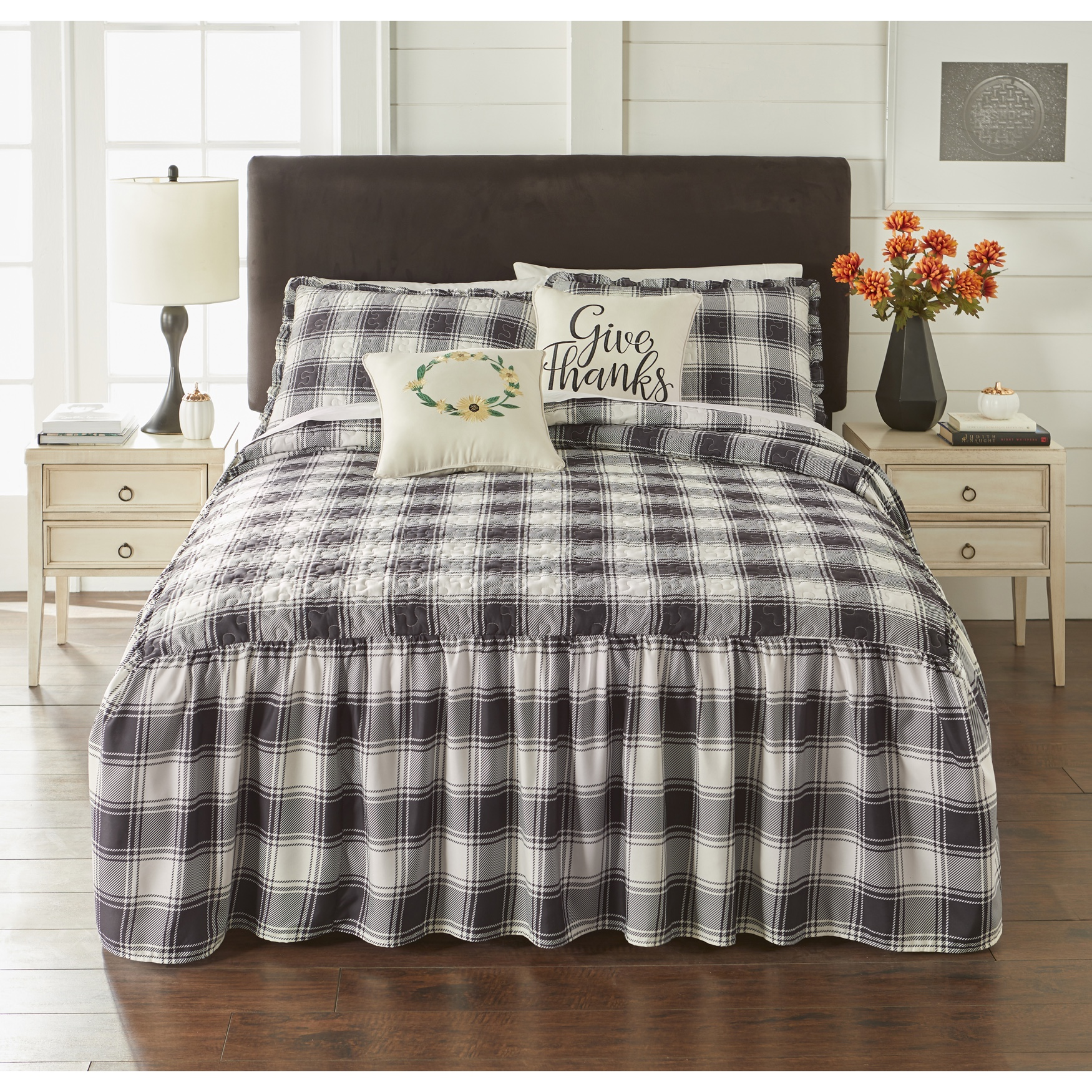 Farmhouse Flounce 5-Pc. Bedspread Set,