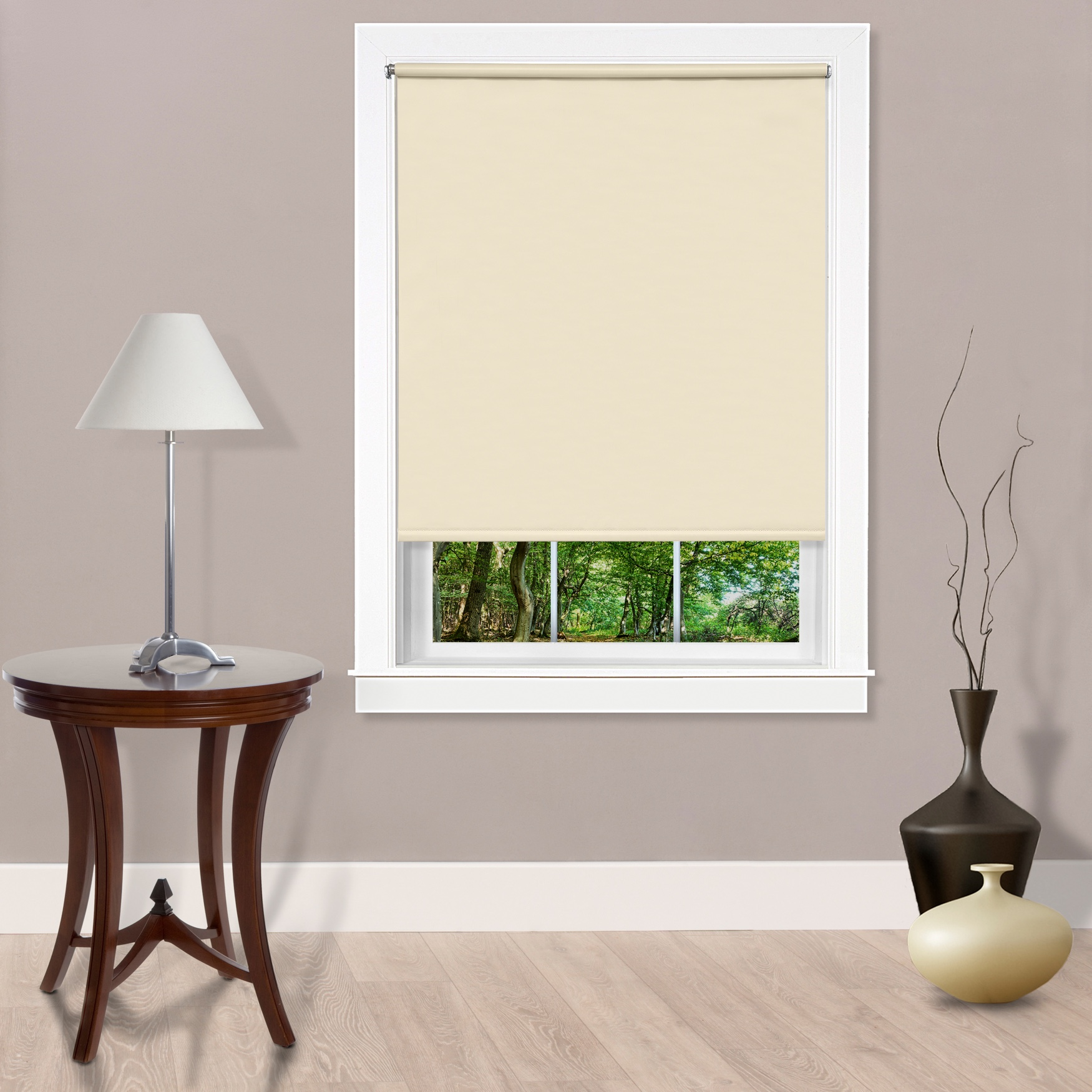 Cords Free Tear Down Room Darkening Window Shade,