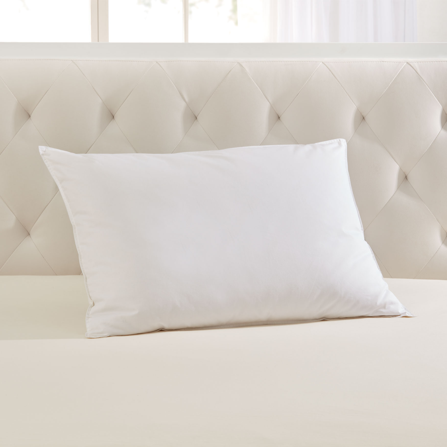 Soft Down-Feel Feather Pillow,