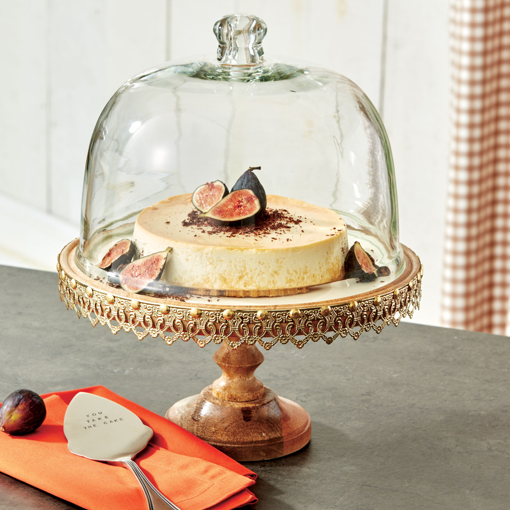 Embossed Cake Stand, GOLD