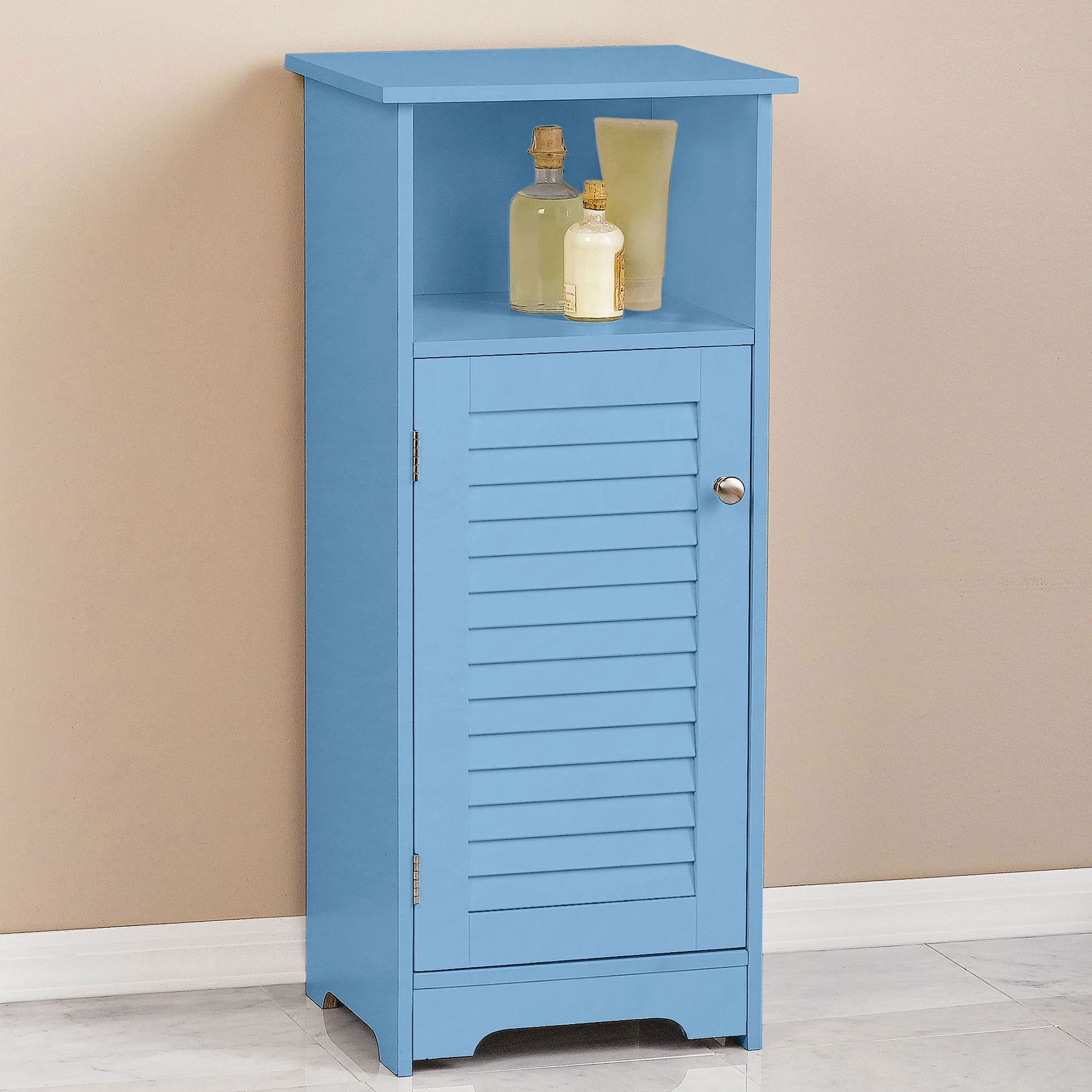 Louvre Short Cabinet with Cubby, BLUE