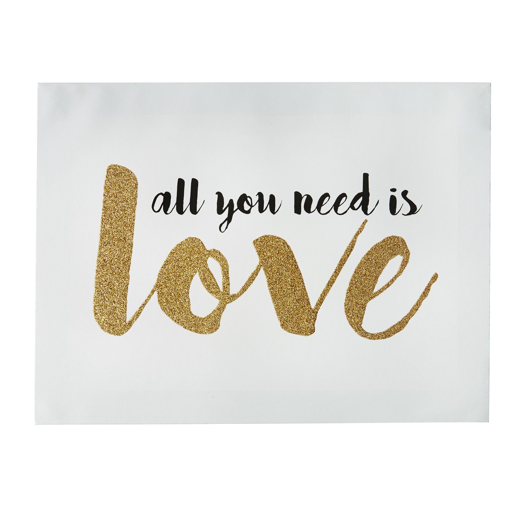 'All You Need Is Love' Canvas Art, MULTI
