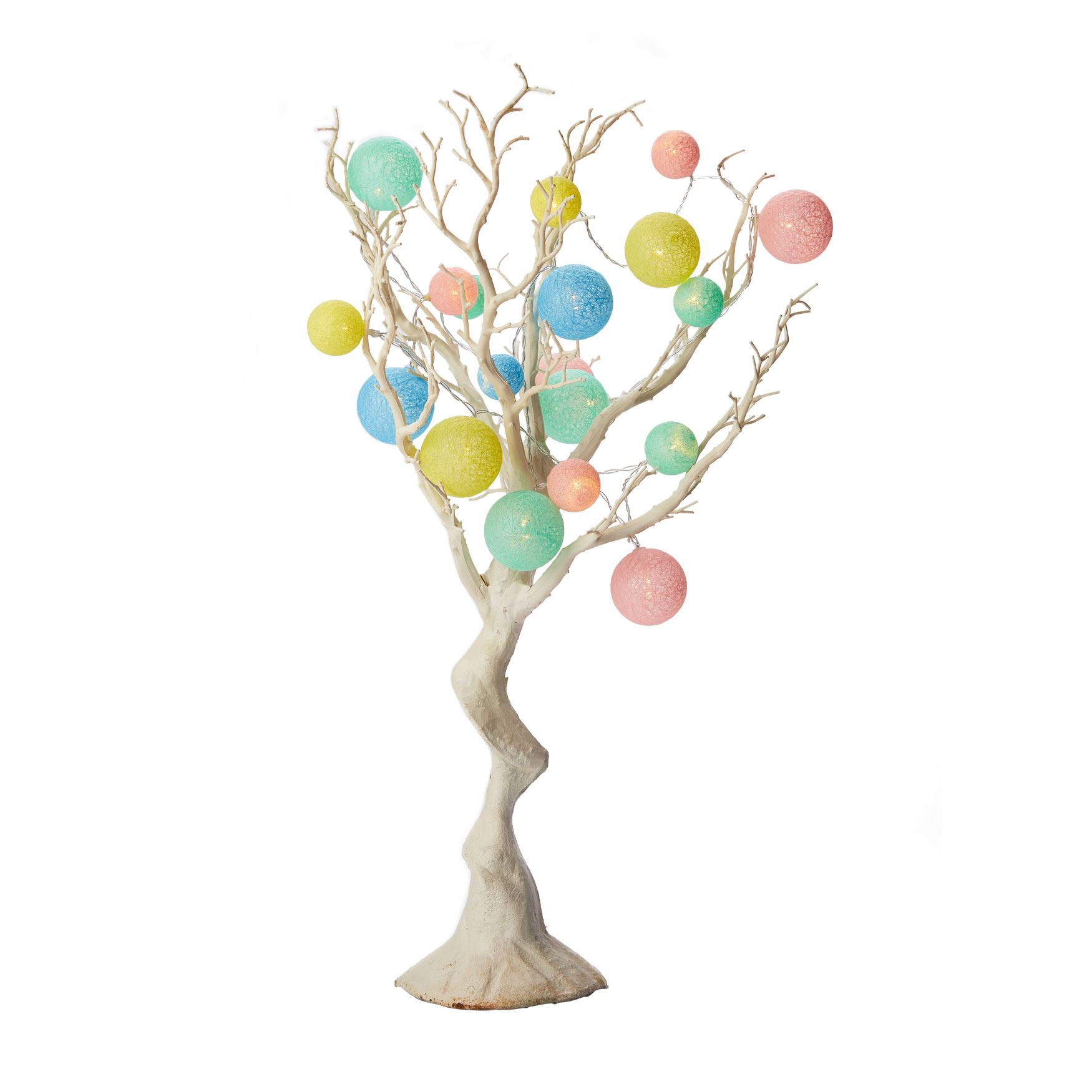 Tree Branch with Pastel String Lights, MULTI
