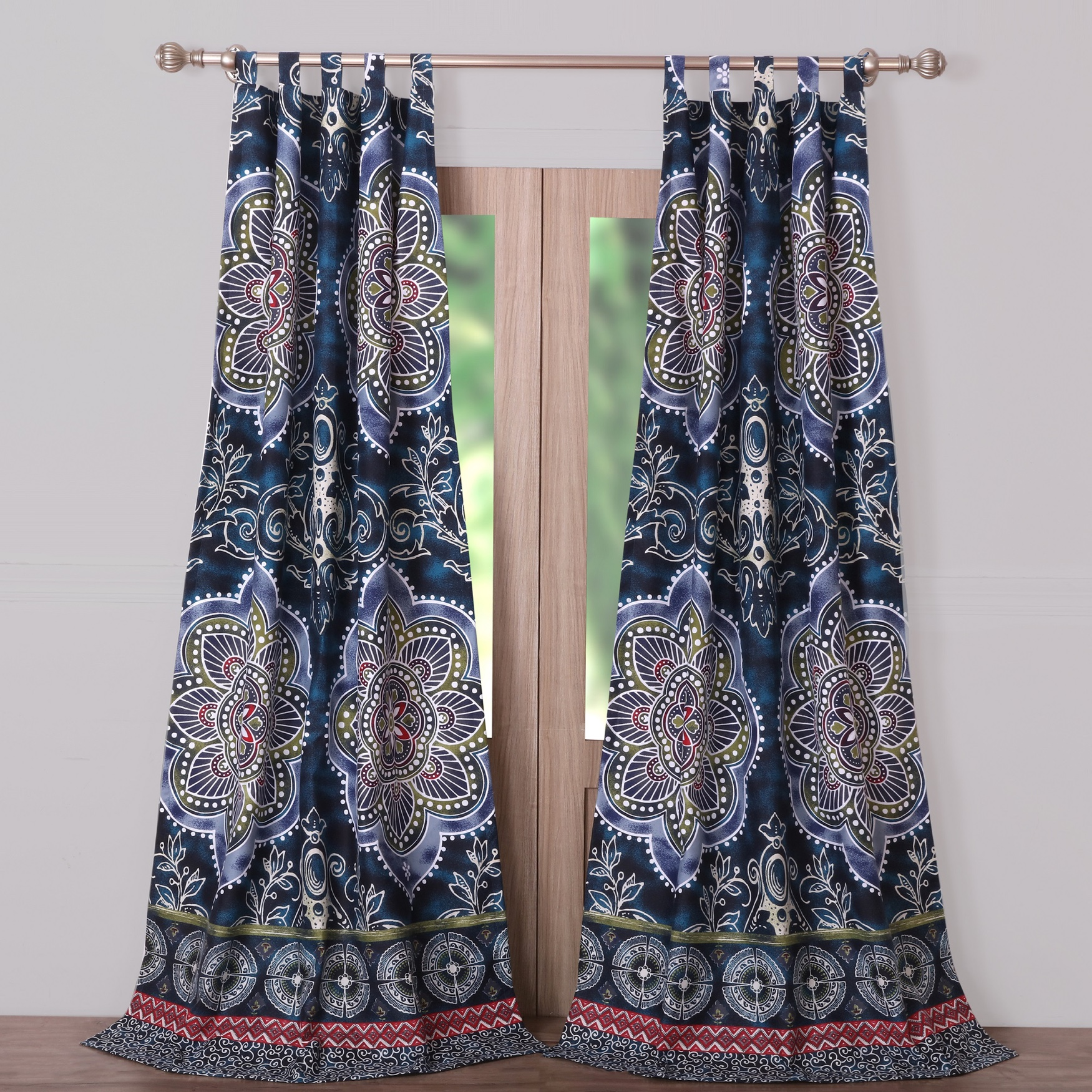Twyla Midnight Curtain Panel Pair , MIDNIGHT