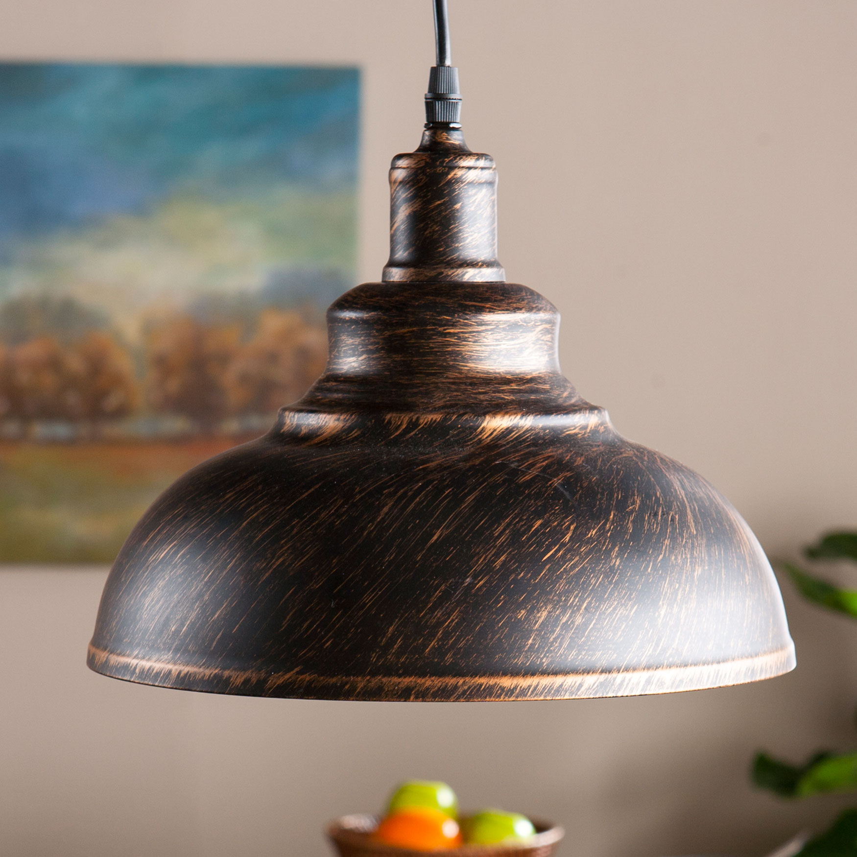 Bell Pendant Lamp, BLACK COPPER
