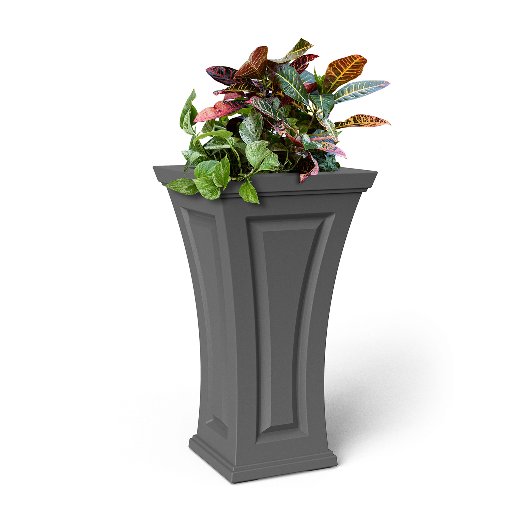 "Cambridge 28"" Tall Planter, GRAPHITE GREY"