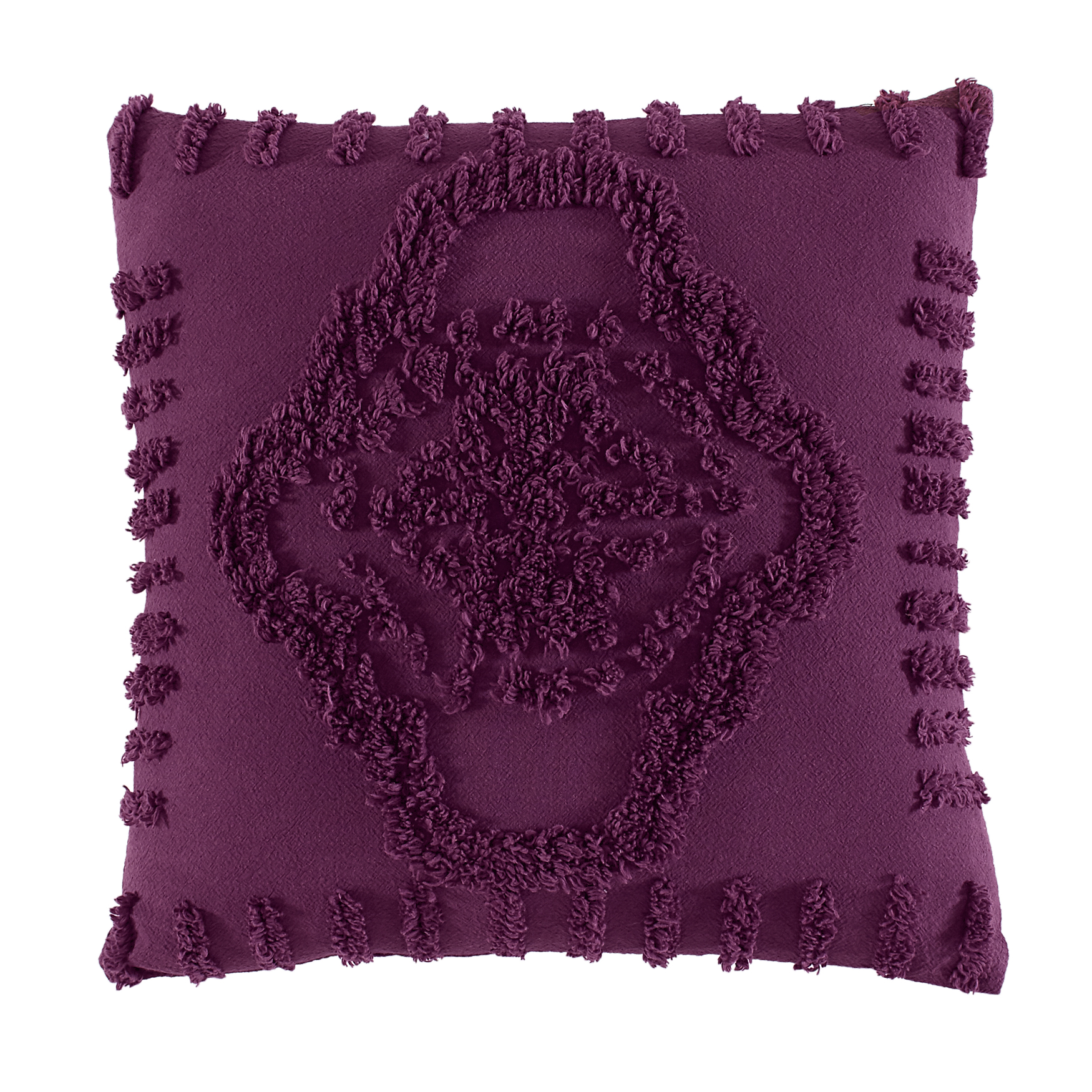 Madison Chenille Sq. Pillow, EGGPLANT