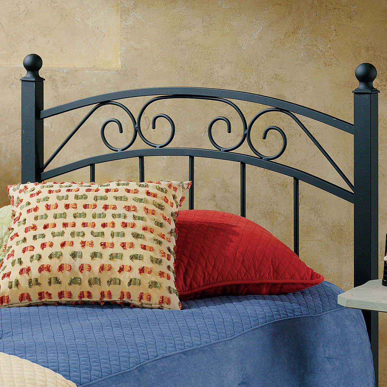 "Twin Headboard with Headboard Frame, 63½""Lx41¼""Wx36¼""H, BLACK"