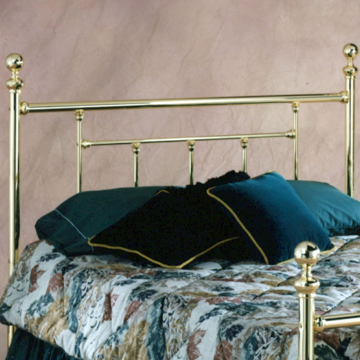 "Full Headboard with Headboard Frame, 63½""Lx55.9""Wx51½""H, BRASS"