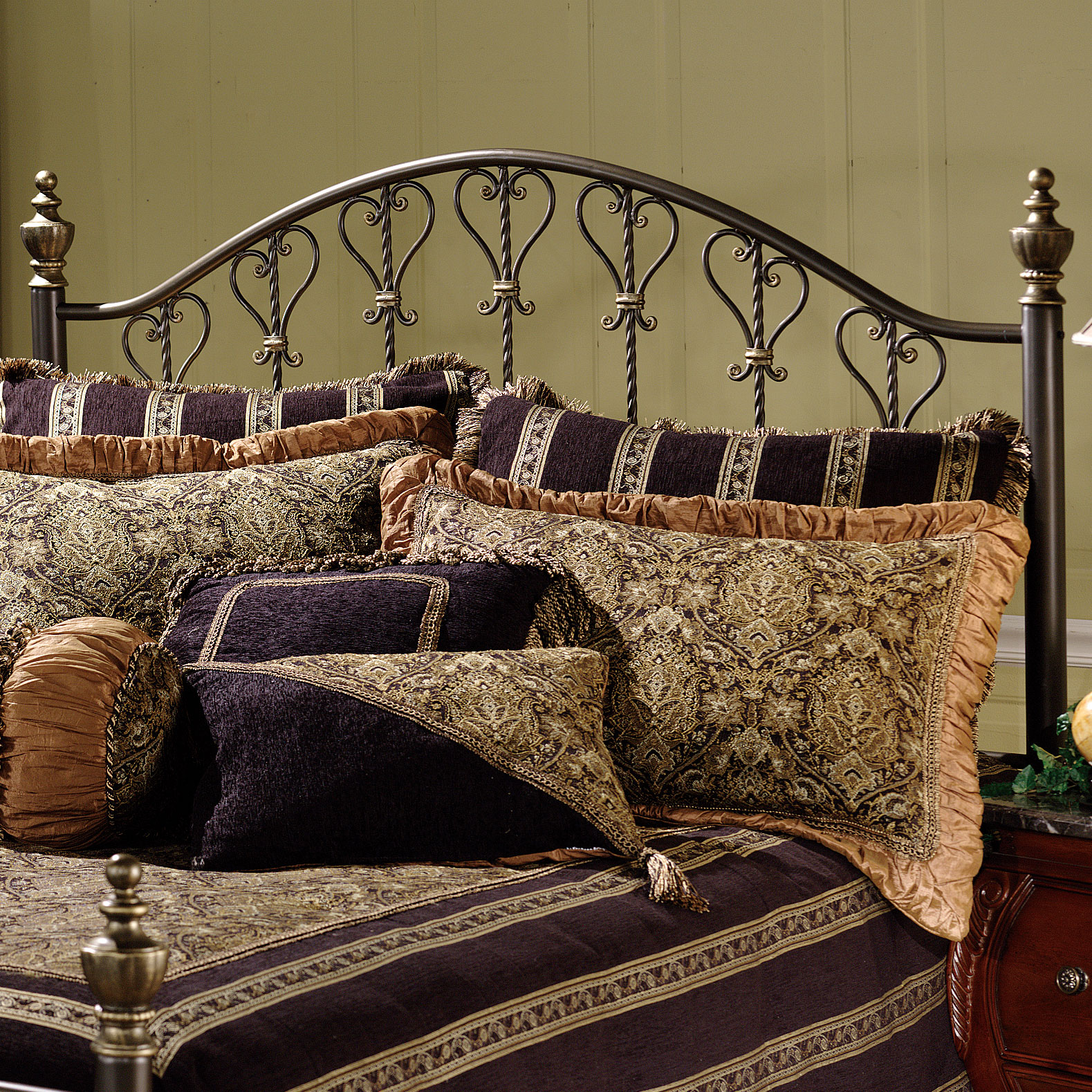 "Full/Queen Headboard with Headboard Frame, 71½""Lx62½""Wx57""H, BRONZE"