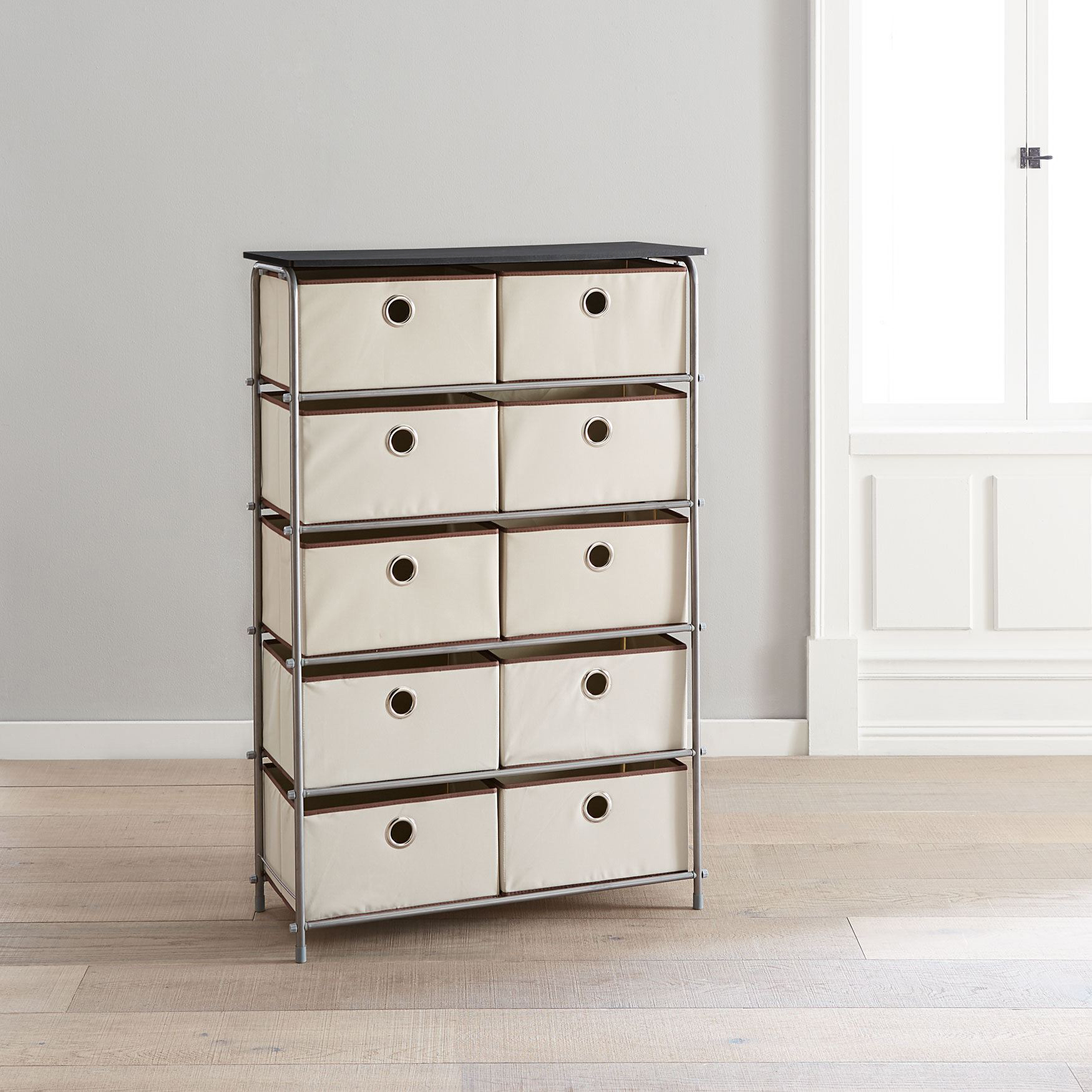 Eve 10-Drawer Soft Storage Cart , NEUTRAL