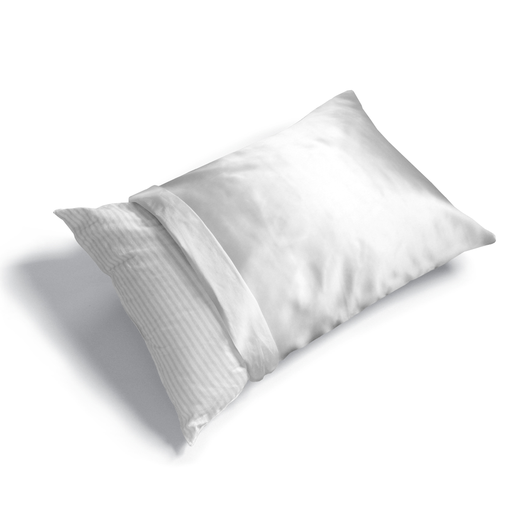 6-Pack Satin Polyester Pillow Protector, WHITE