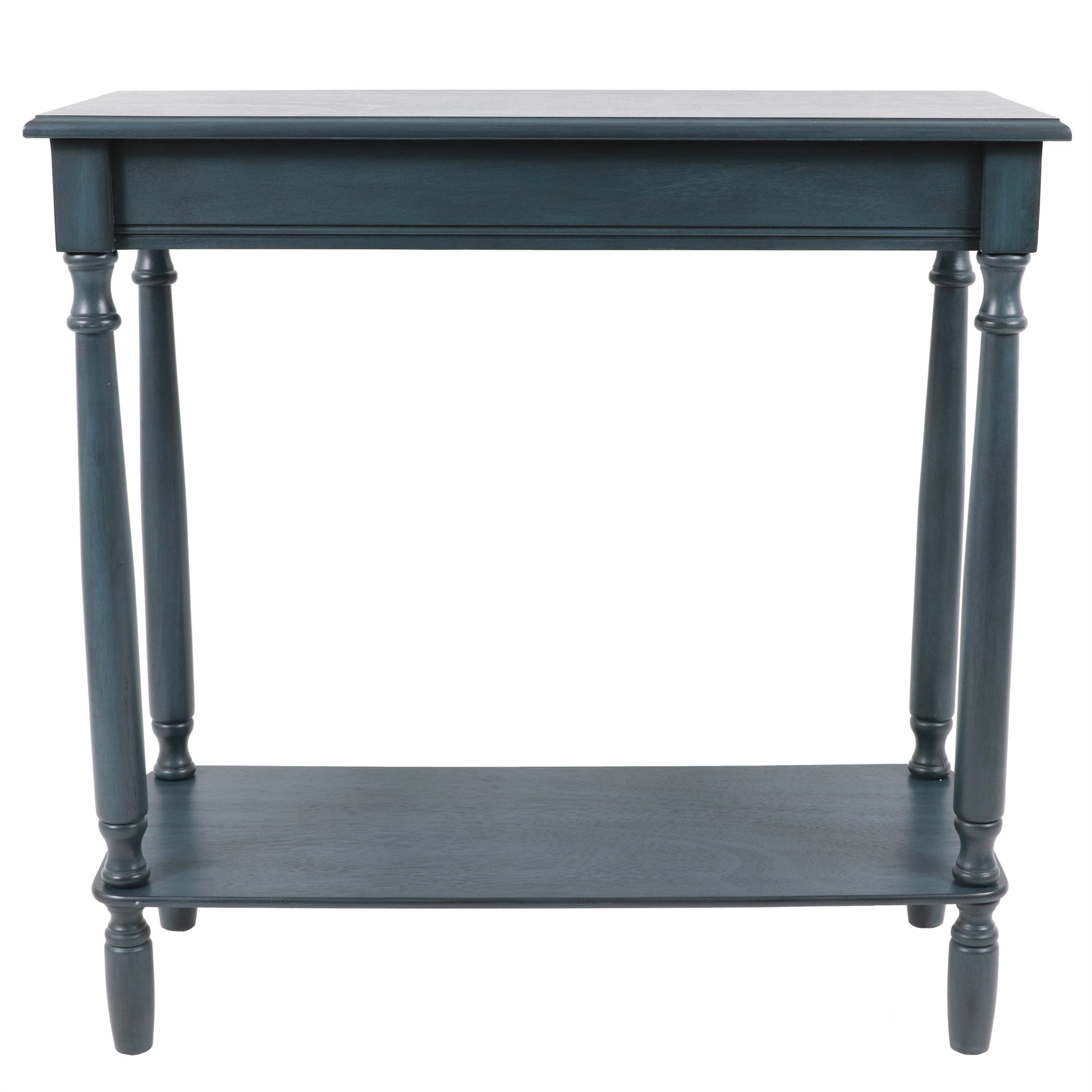Antique Navy Rectangle Console , NAVY