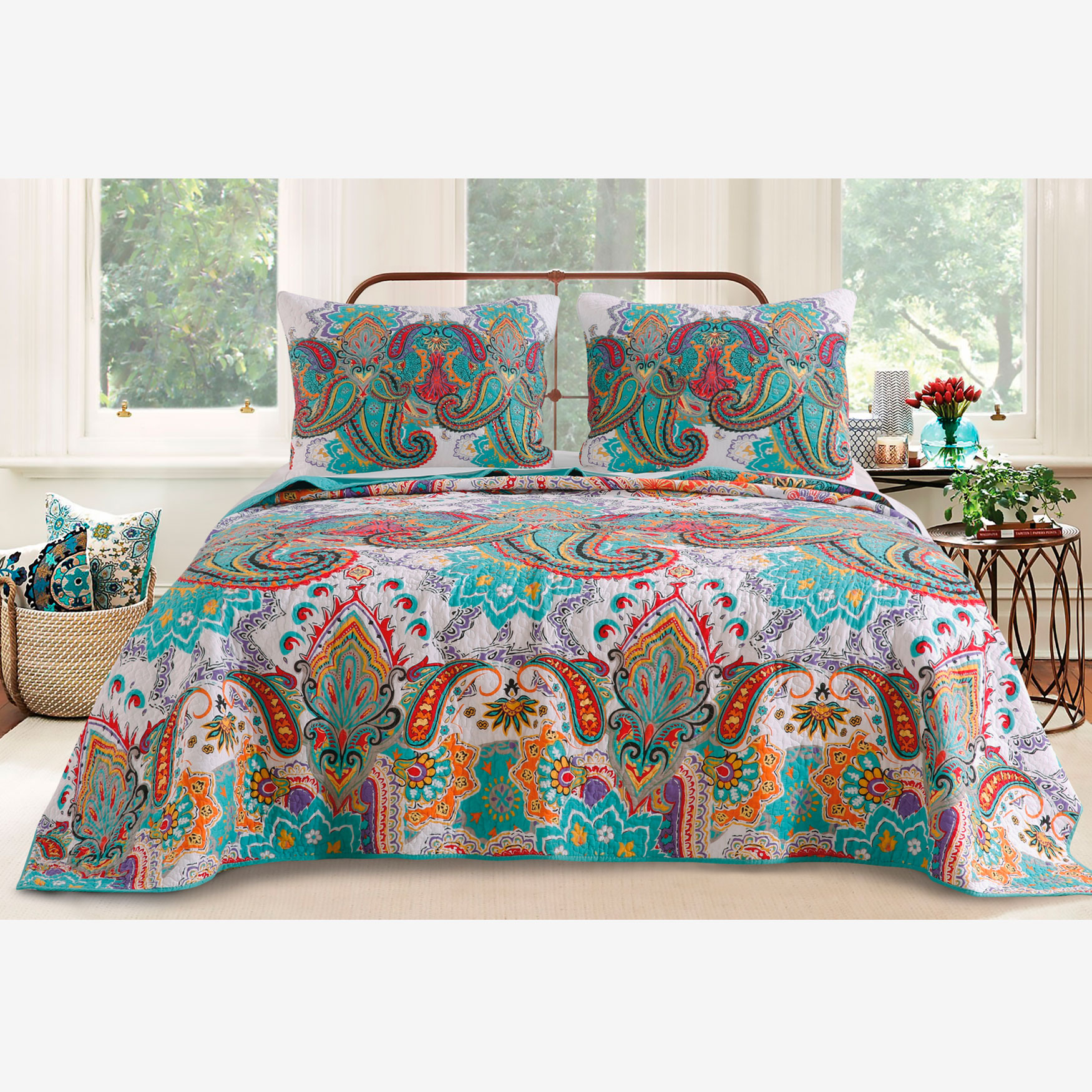 Nirvana Quilt Set by Greenland Home Fashions,