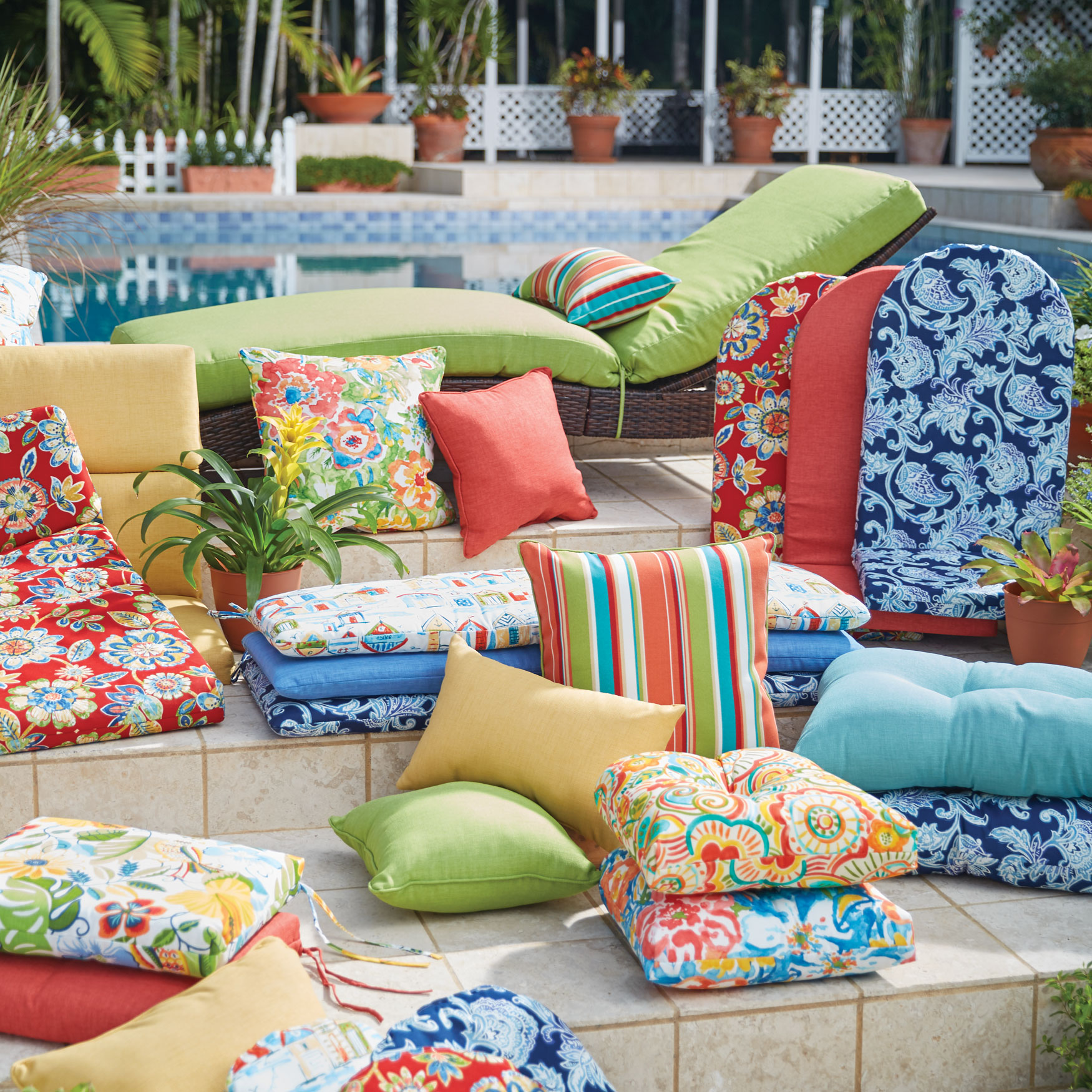 Bright and Happy Collection Replacement Cushions & Pillows,