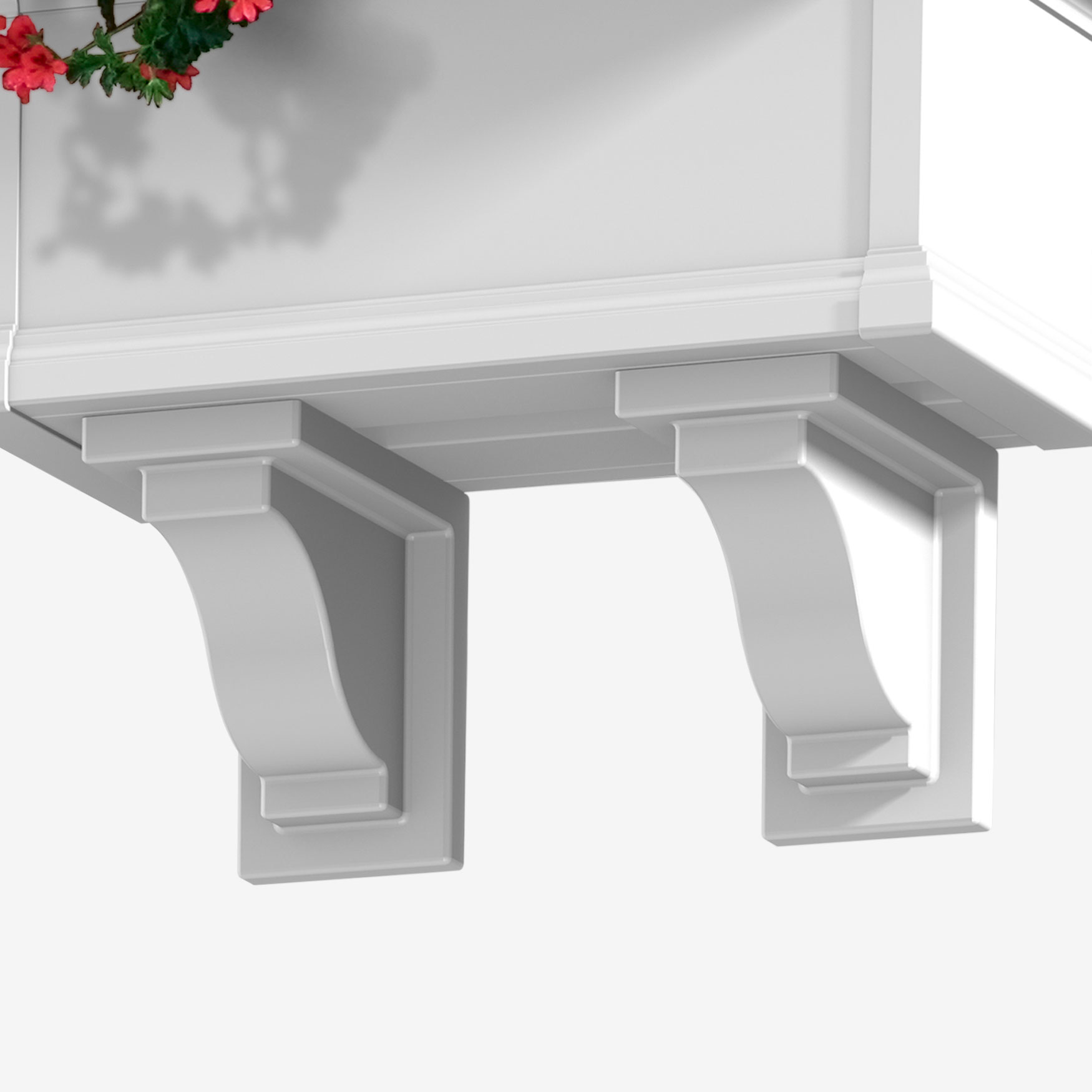 Yorkshire Decorative Brackets 2-Pack, WHITE