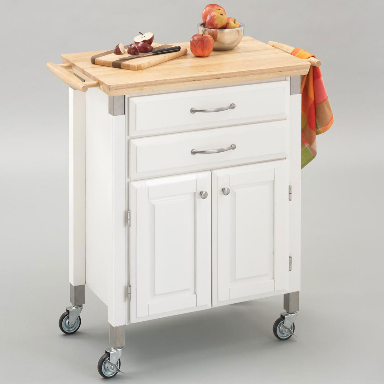 Brylane Home Kitchen: Dolly Madison Prep & Serve Cart