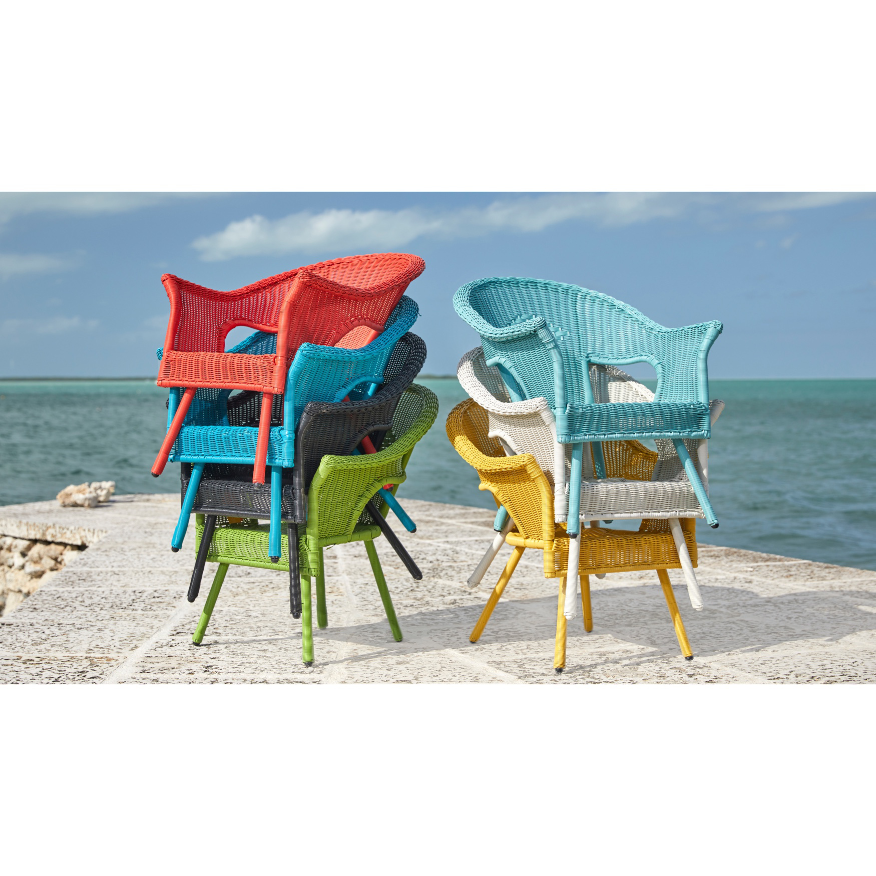 Roma All-Weather Wicker Stacking Chair,