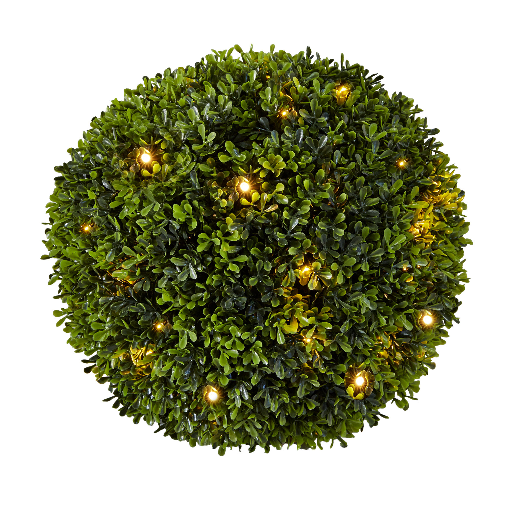 Pre-Lit Topiary Ball, GREEN