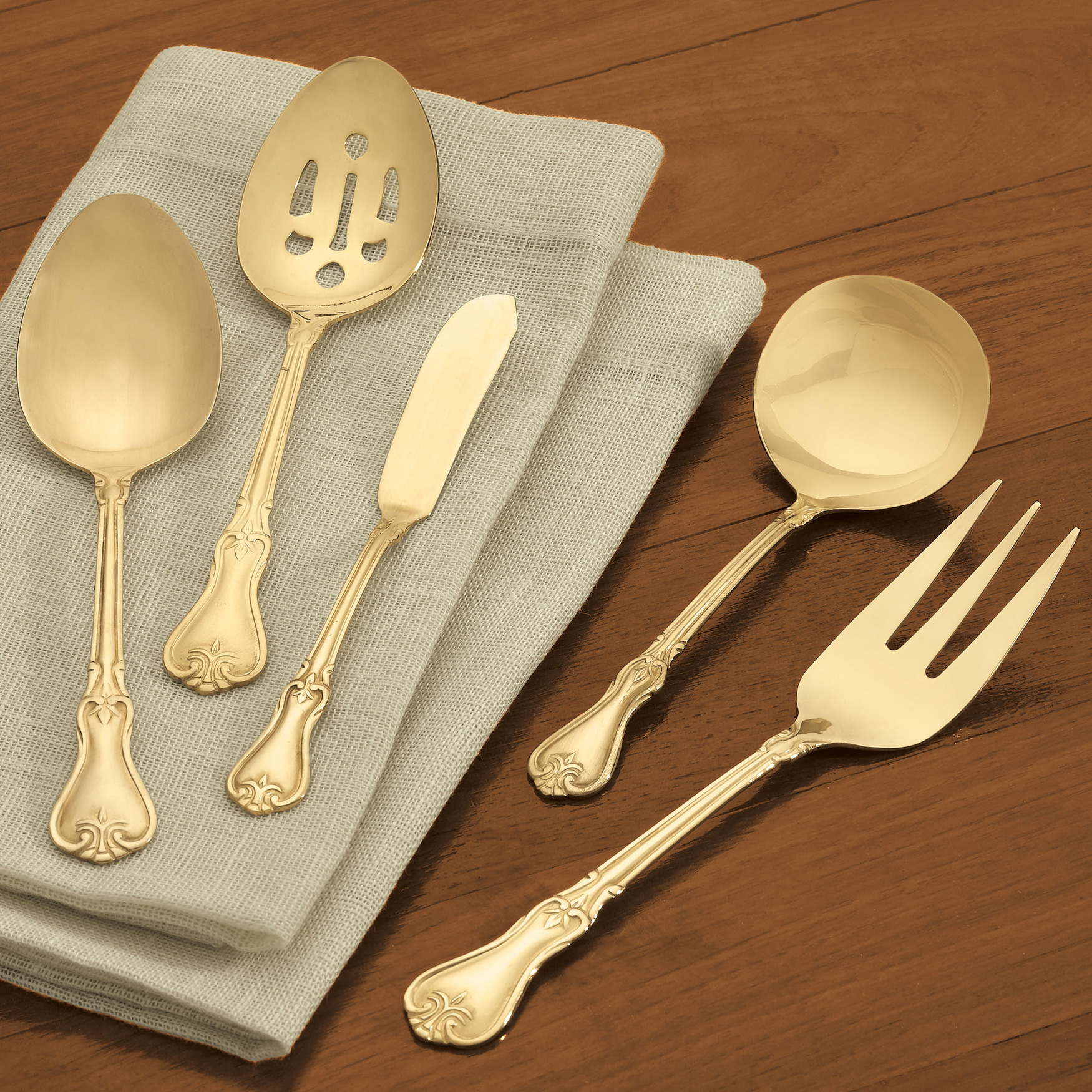 5-Pc. Serving Set, GOLD