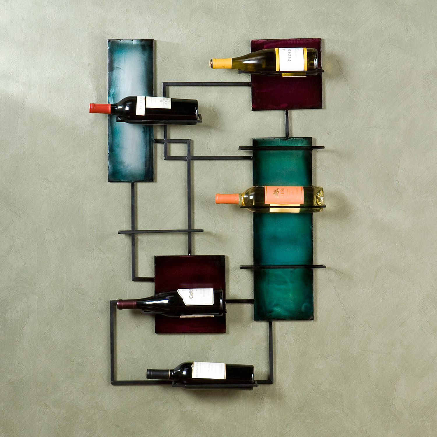Wine Storage Wall Sculpture, BLACK