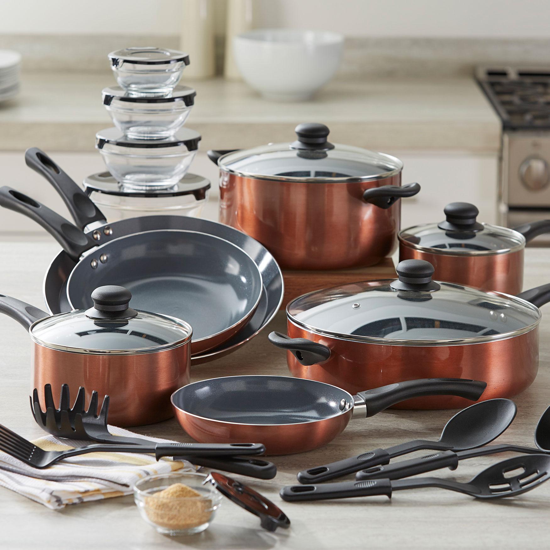 Brylane Home Kitchen: 26-Pc. Aluminum Cookware Set